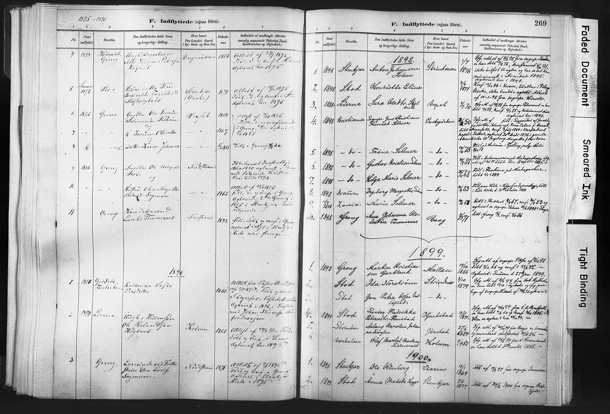 SAT, Ministerialprotokoller, klokkerbøker og fødselsregistre - Nord-Trøndelag, 749/L0474: Ministerialbok nr. 749A08, 1887-1903, s. 269