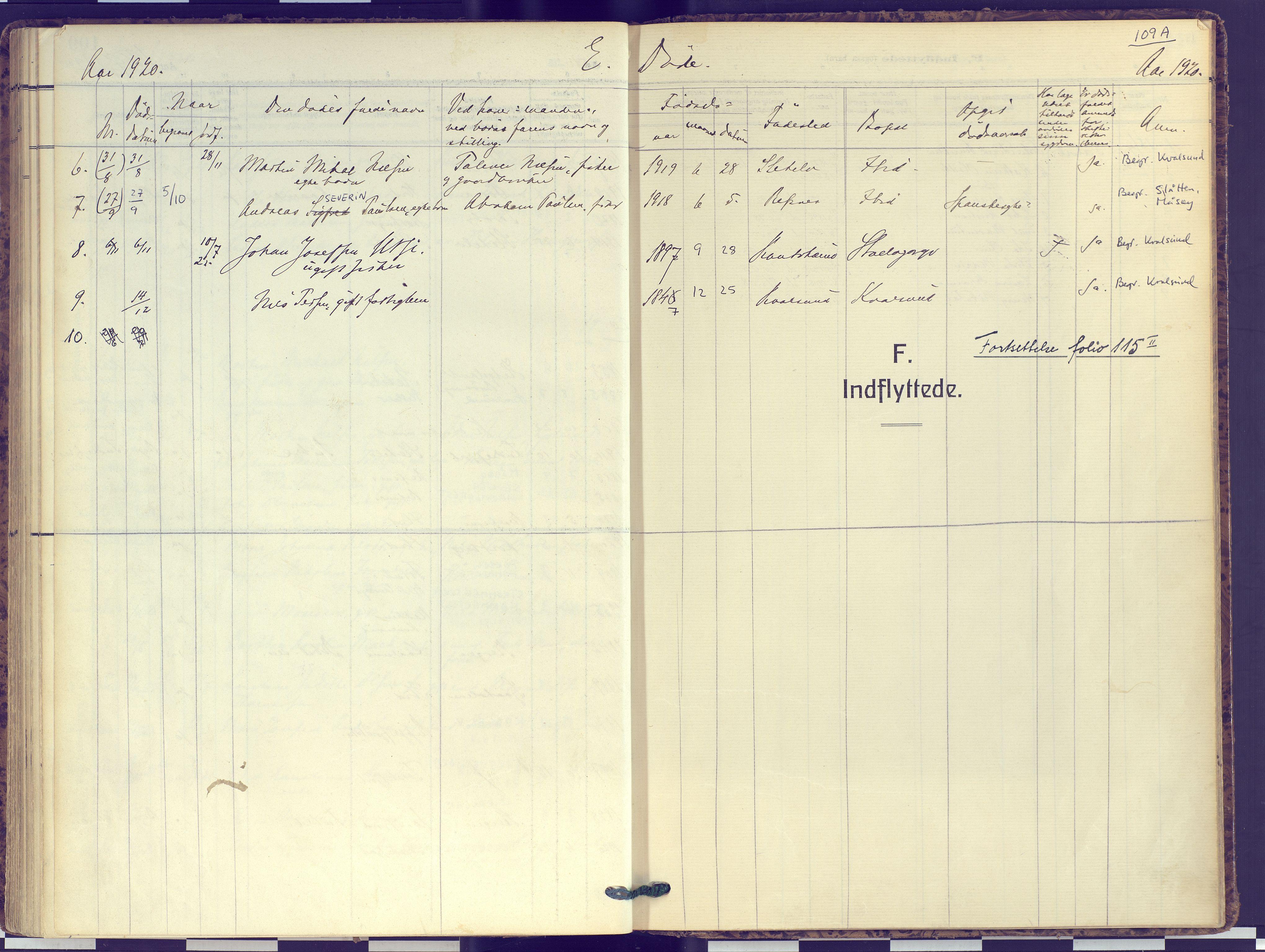 SATØ, Hammerfest sokneprestembete, Ministerialbok nr. 16, 1908-1923, s. 109