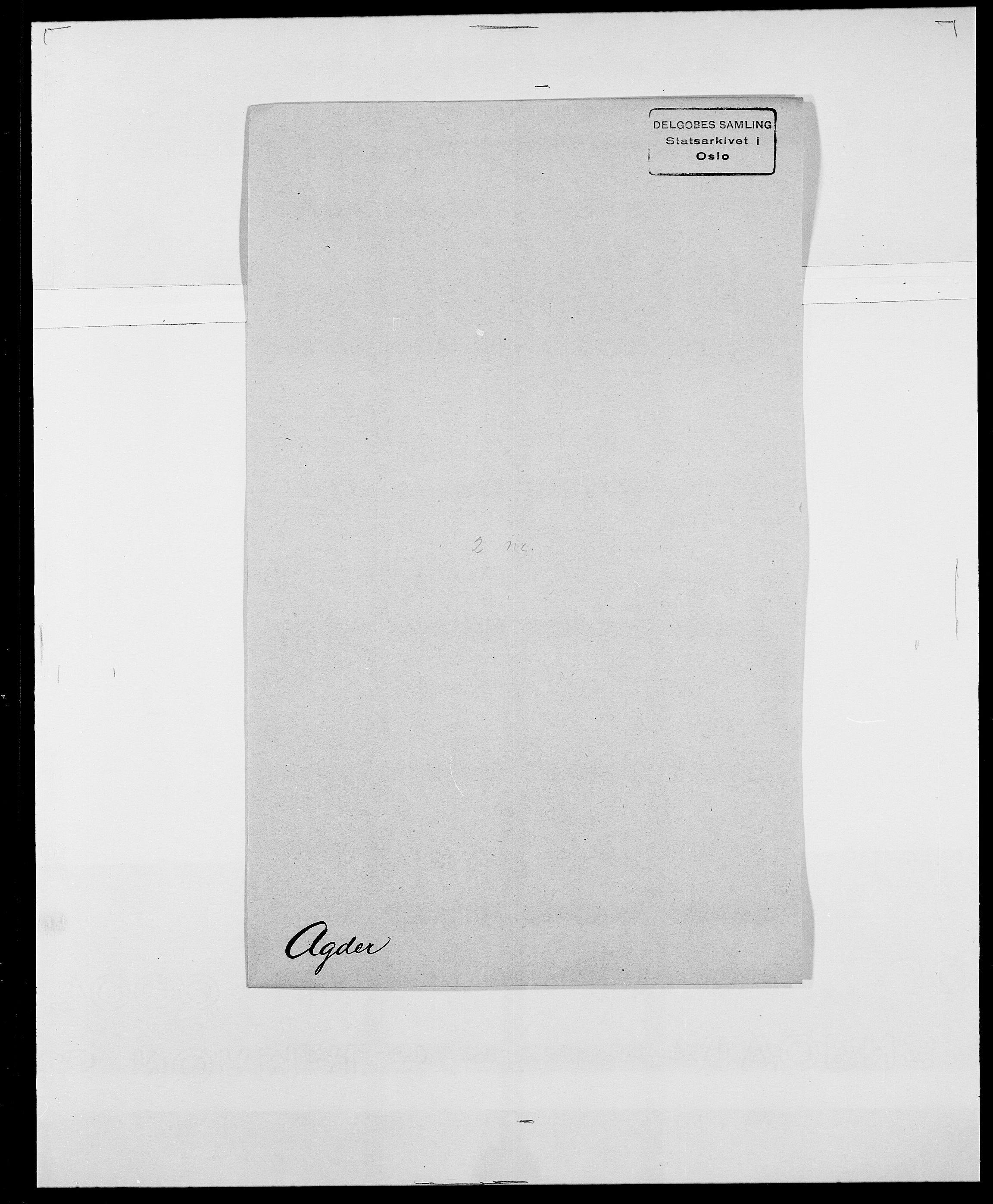 SAO, Delgobe, Charles Antoine - samling, D/Da/L0001: Aabye - Angerman, s. 287