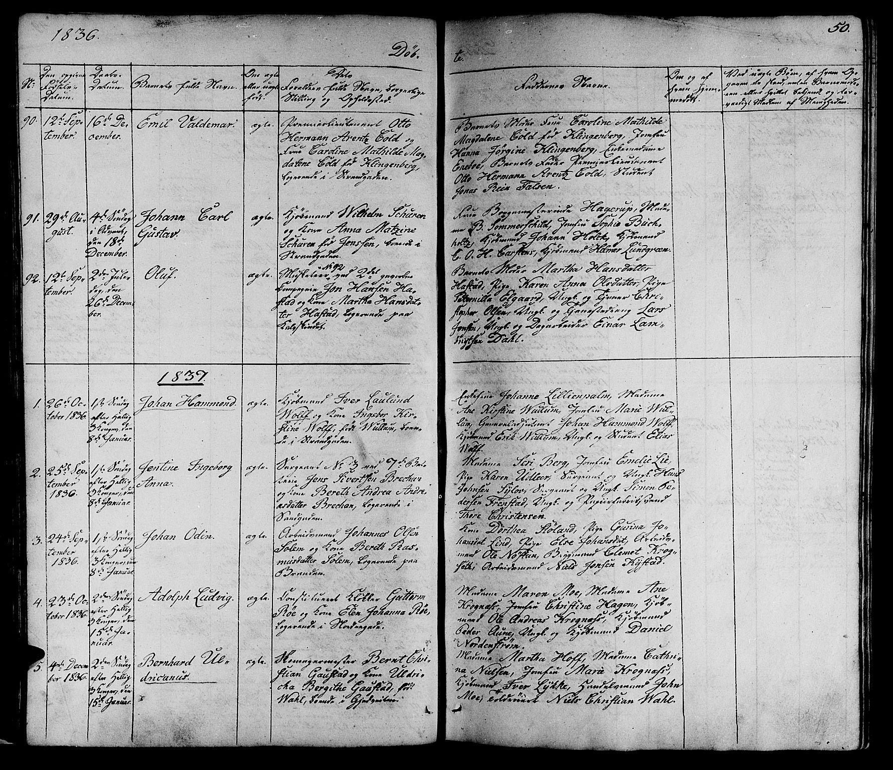 SAT, Ministerialprotokoller, klokkerbøker og fødselsregistre - Sør-Trøndelag, 602/L0136: Klokkerbok nr. 602C04, 1833-1845, s. 50