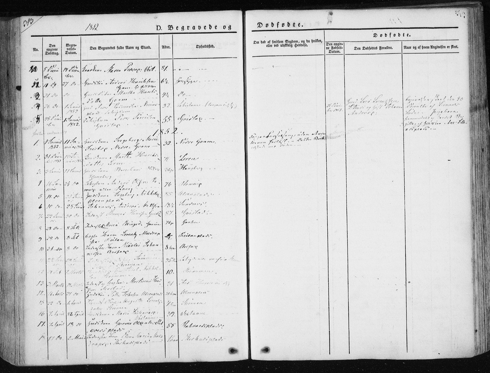 SAT, Ministerialprotokoller, klokkerbøker og fødselsregistre - Nord-Trøndelag, 730/L0280: Ministerialbok nr. 730A07 /1, 1840-1854, s. 313