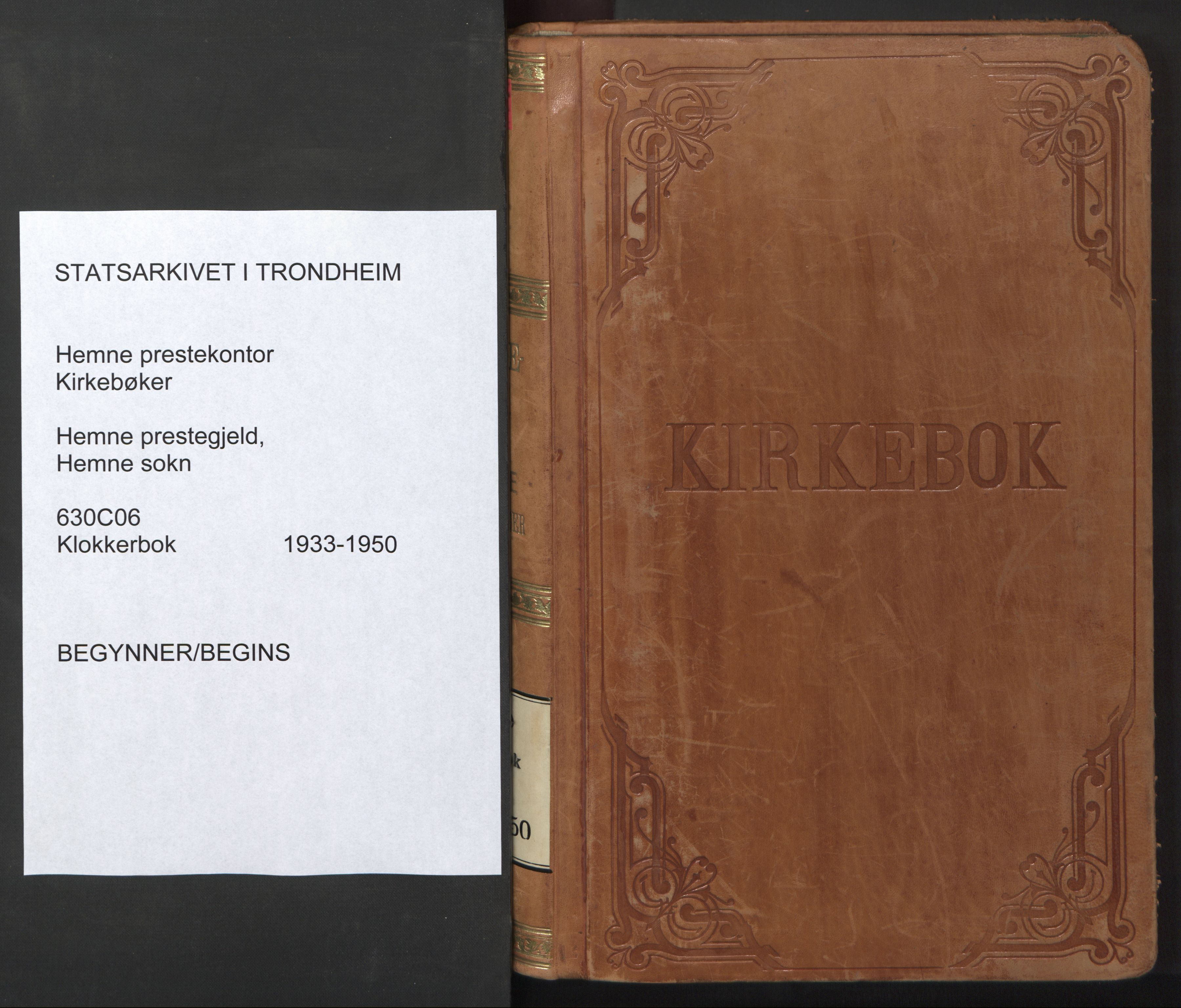 SAT, Ministerialprotokoller, klokkerbøker og fødselsregistre - Sør-Trøndelag, 630/L0508: Klokkerbok nr. 630C06, 1933-1950