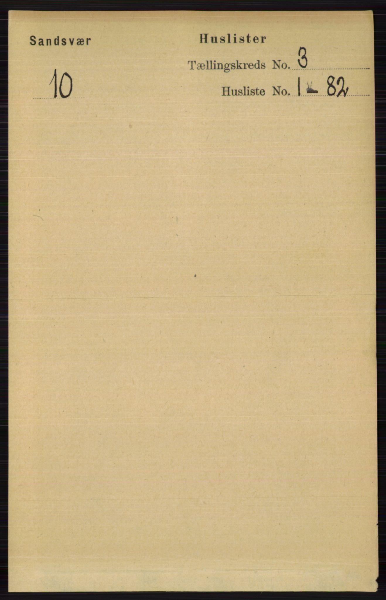 RA, Folketelling 1891 for 0629 Sandsvær herred, 1891, s. 1201