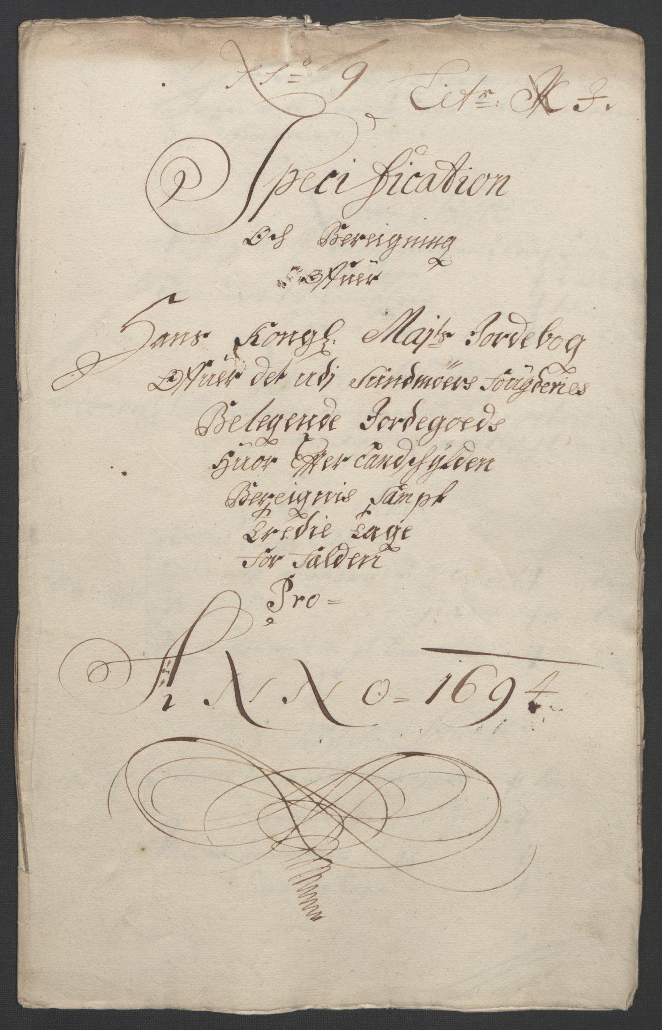 RA, Rentekammeret inntil 1814, Reviderte regnskaper, Fogderegnskap, R54/L3555: Fogderegnskap Sunnmøre, 1694-1695, s. 170