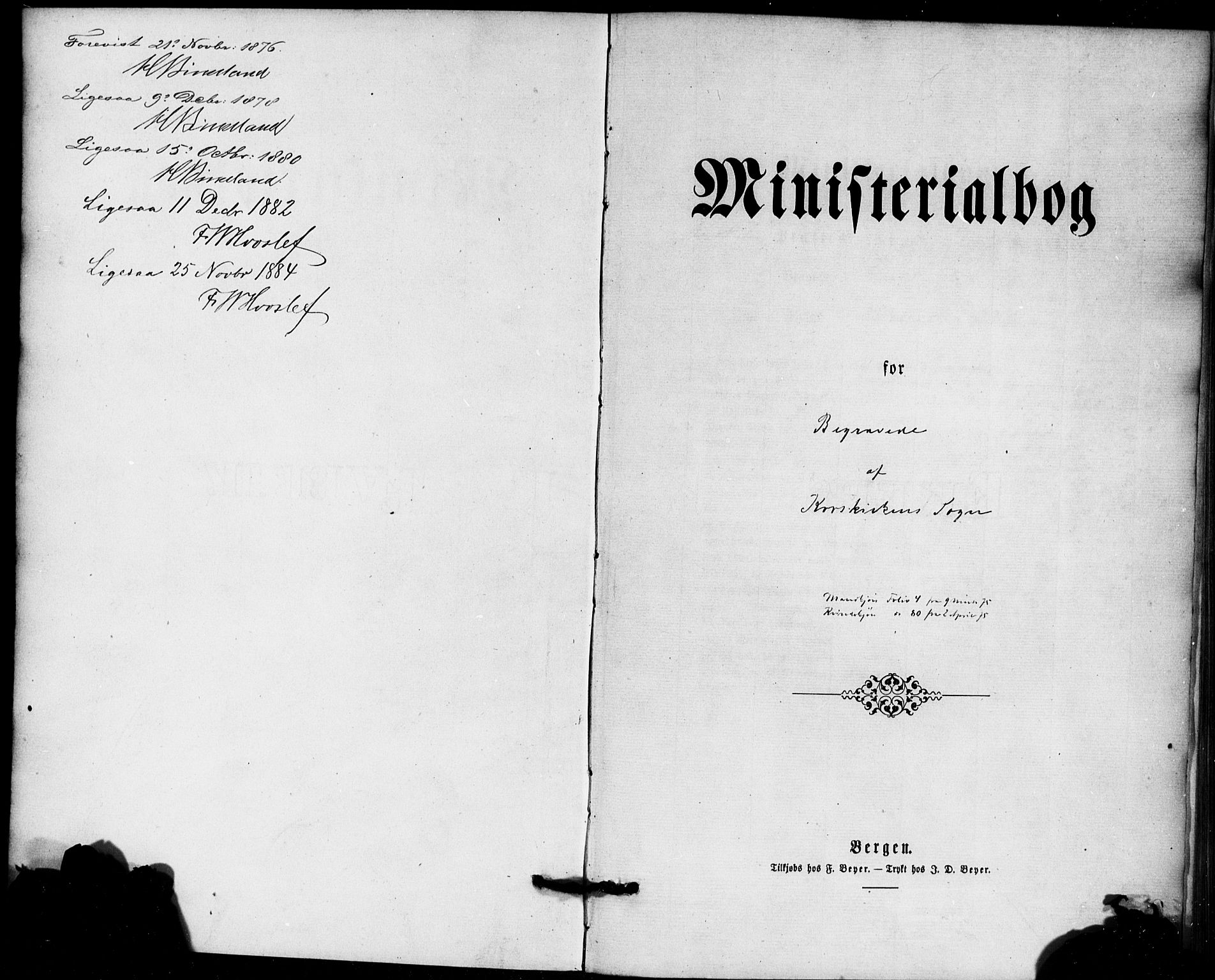 SAB, Korskirken Sokneprestembete, H/Haa/L0046: Ministerialbok nr. E 4, 1875-1883
