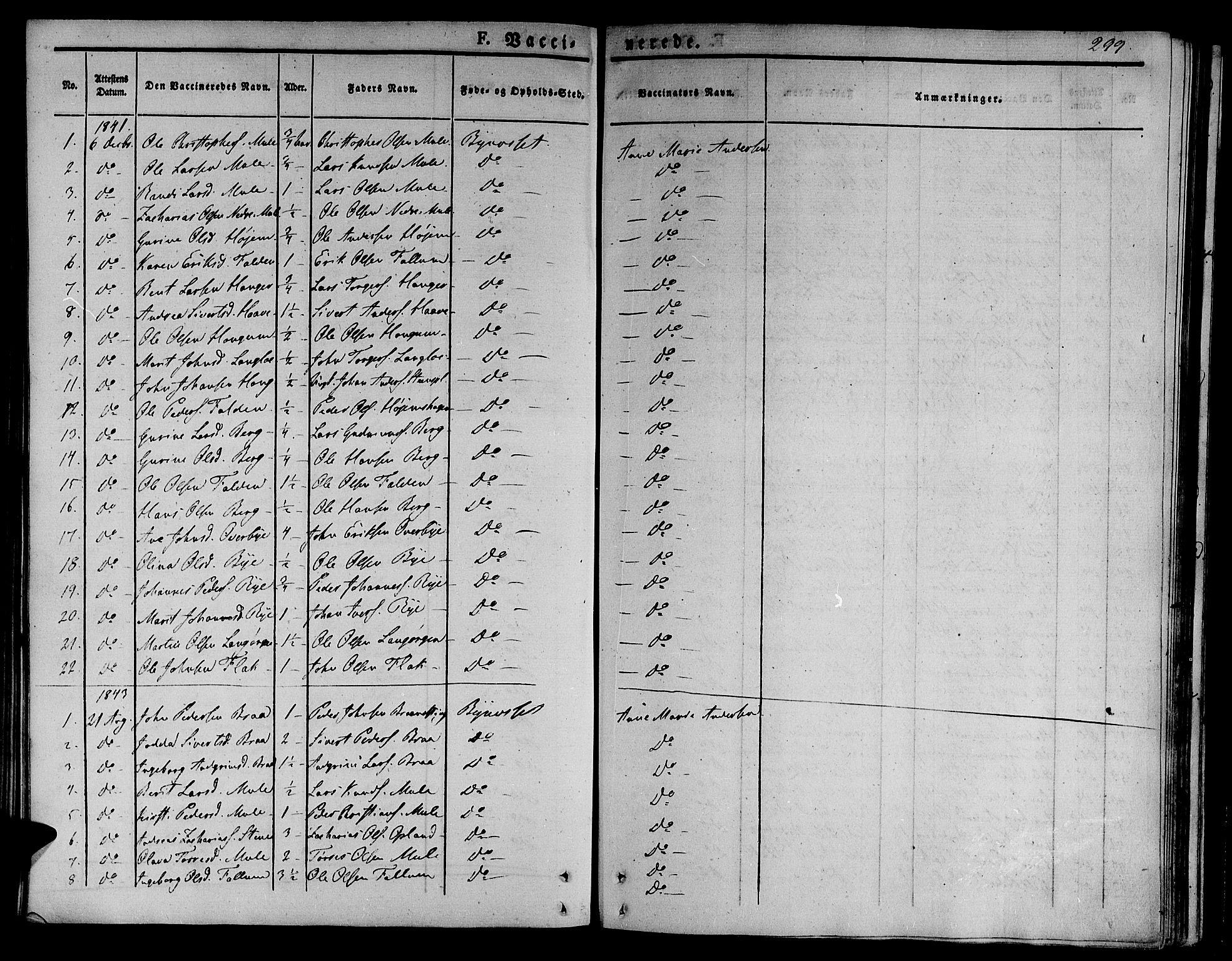 SAT, Ministerialprotokoller, klokkerbøker og fødselsregistre - Sør-Trøndelag, 612/L0374: Ministerialbok nr. 612A07 /1, 1829-1845, s. 299