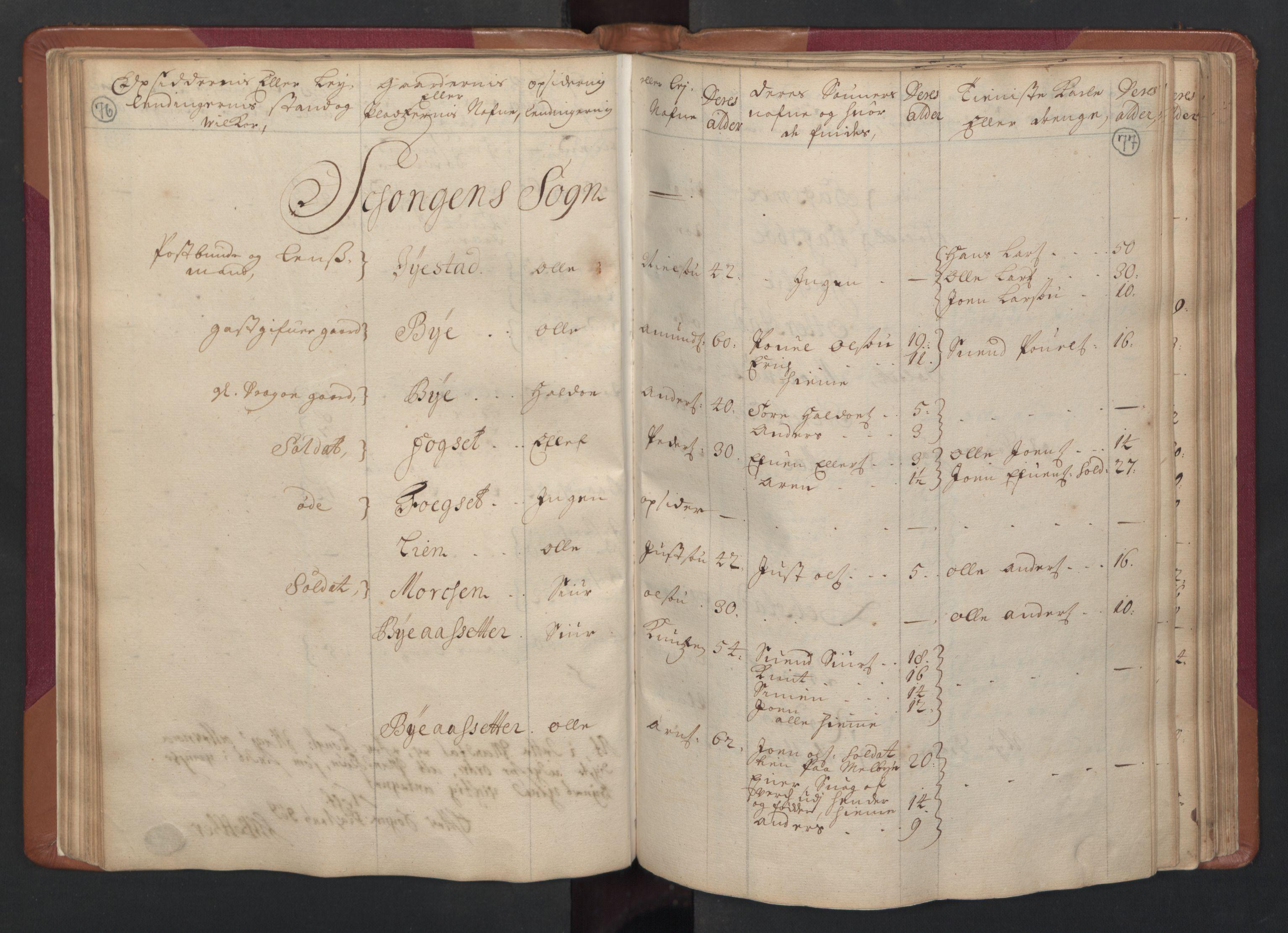 RA, Manntallet 1701, nr. 14: Strinda og Selbu fogderi, 1701, s. 76-77