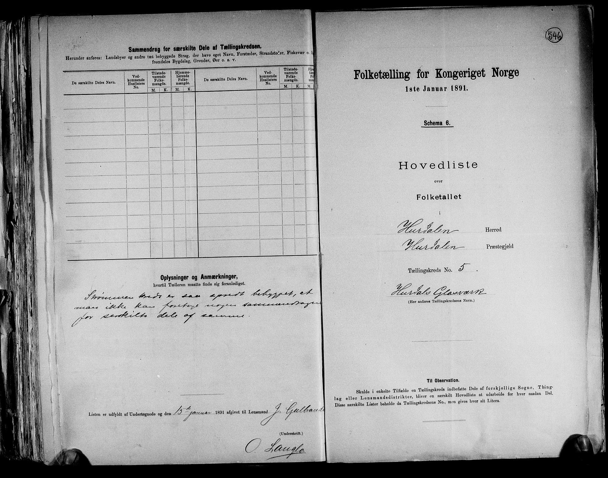 RA, Folketelling 1891 for 0239 Hurdal herred, 1891, s. 13