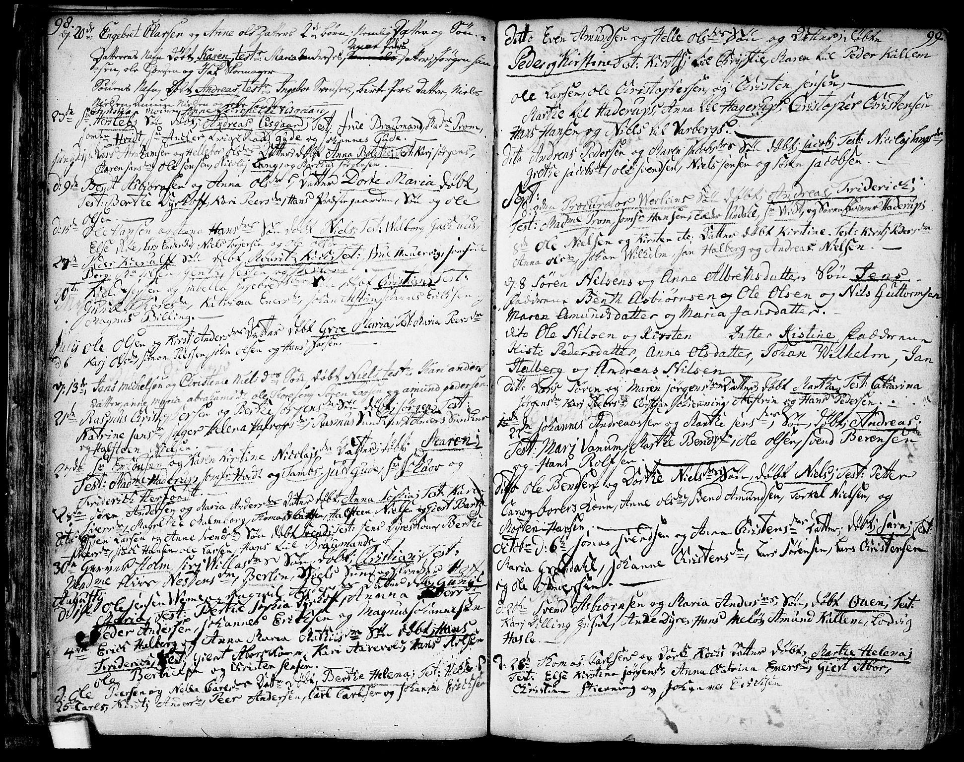 SAO, Moss prestekontor Kirkebøker, F/Fa/Faa/L0002: Ministerialbok nr. I 2, 1753-1779, s. 98-99