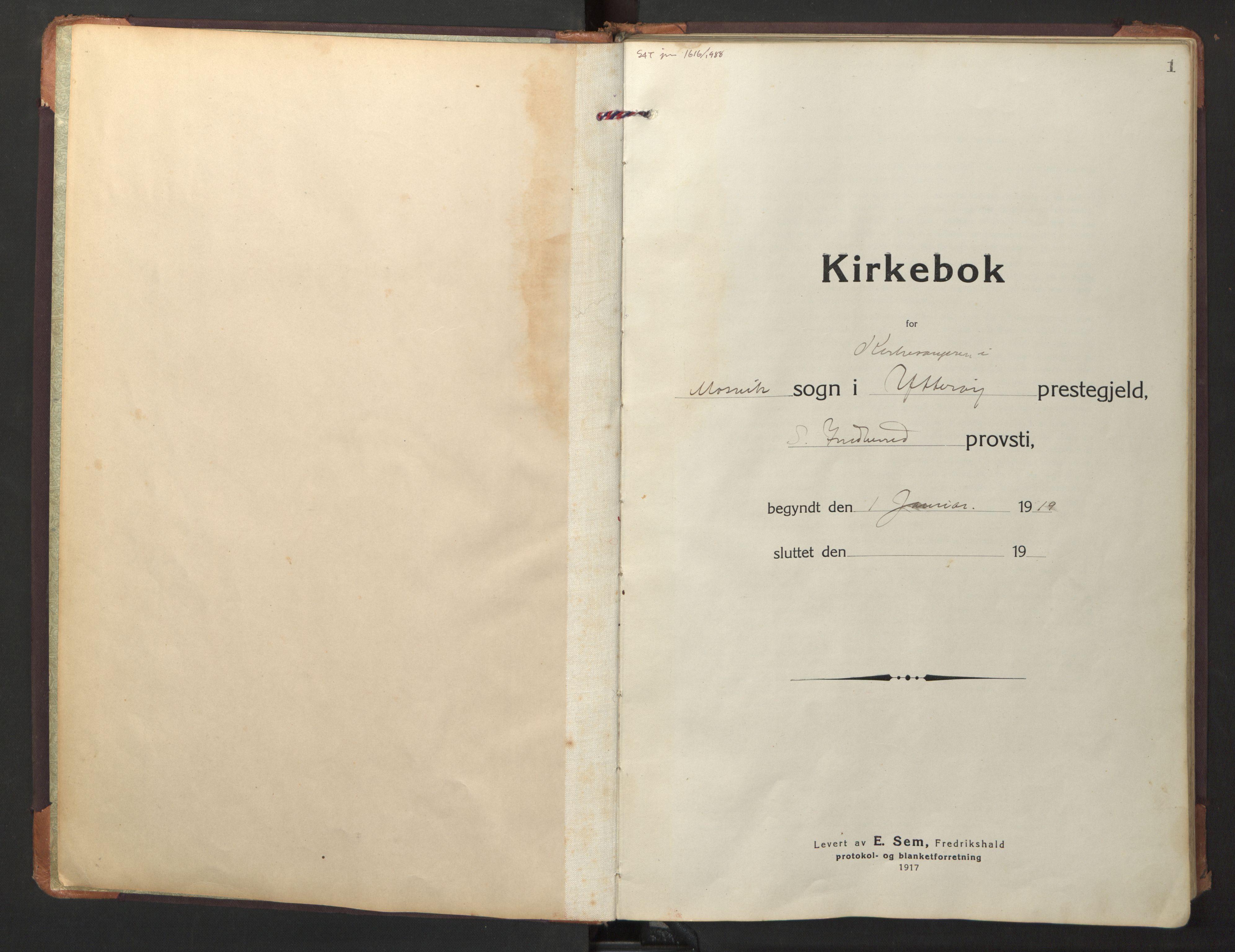 SAT, Ministerialprotokoller, klokkerbøker og fødselsregistre - Nord-Trøndelag, 733/L0328: Klokkerbok nr. 733C03, 1919-1966, s. 1