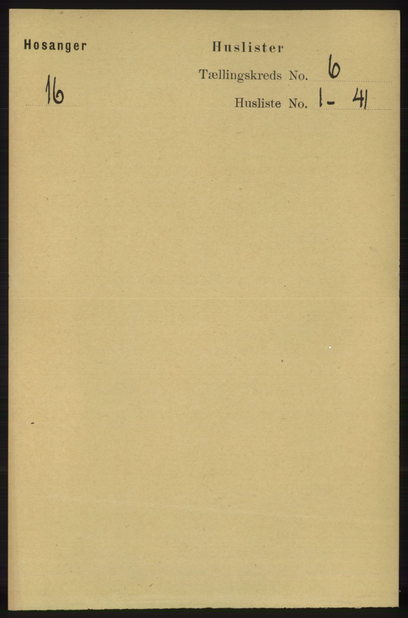 RA, Folketelling 1891 for 1253 Hosanger herred, 1891, s. 2095