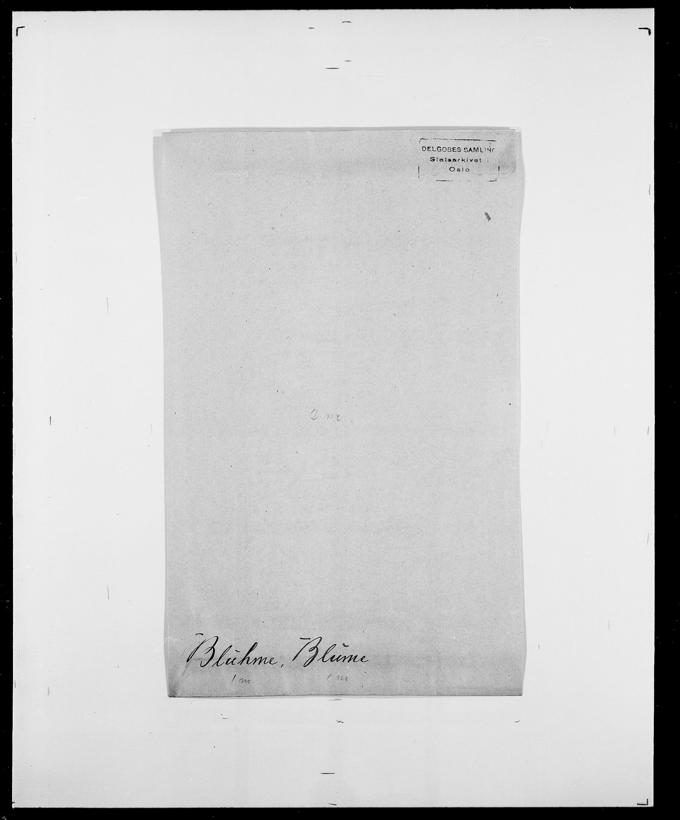 SAO, Delgobe, Charles Antoine - samling, D/Da/L0004: Bergendahl - Blære, s. 782