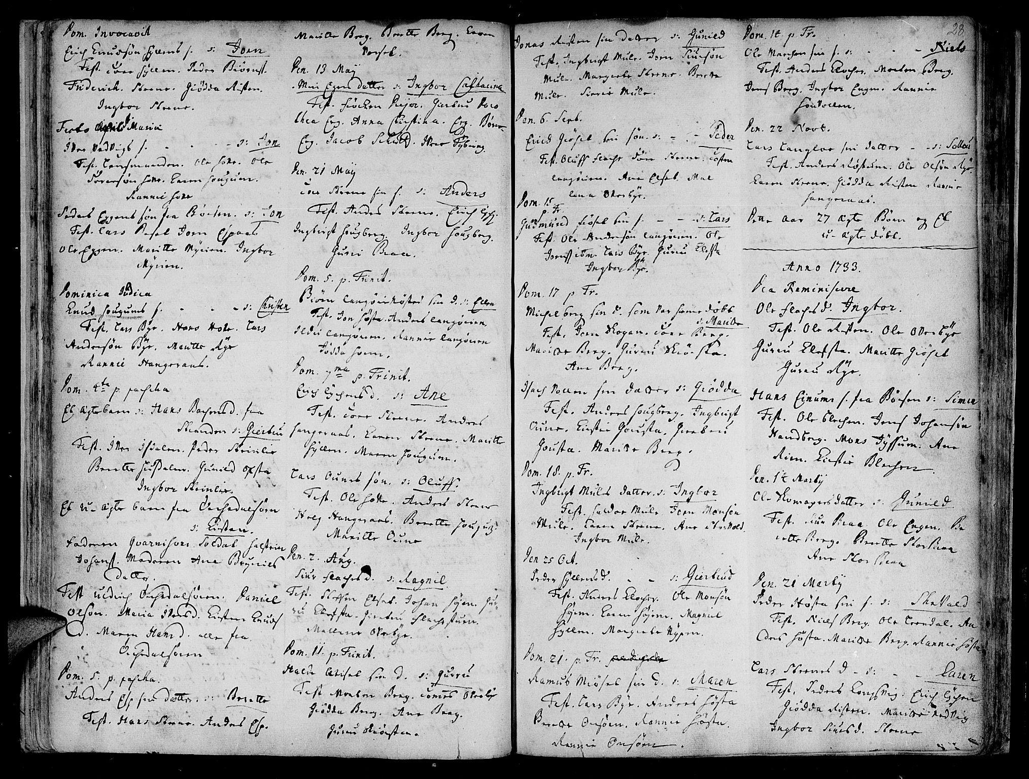 SAT, Ministerialprotokoller, klokkerbøker og fødselsregistre - Sør-Trøndelag, 612/L0368: Ministerialbok nr. 612A02, 1702-1753, s. 28