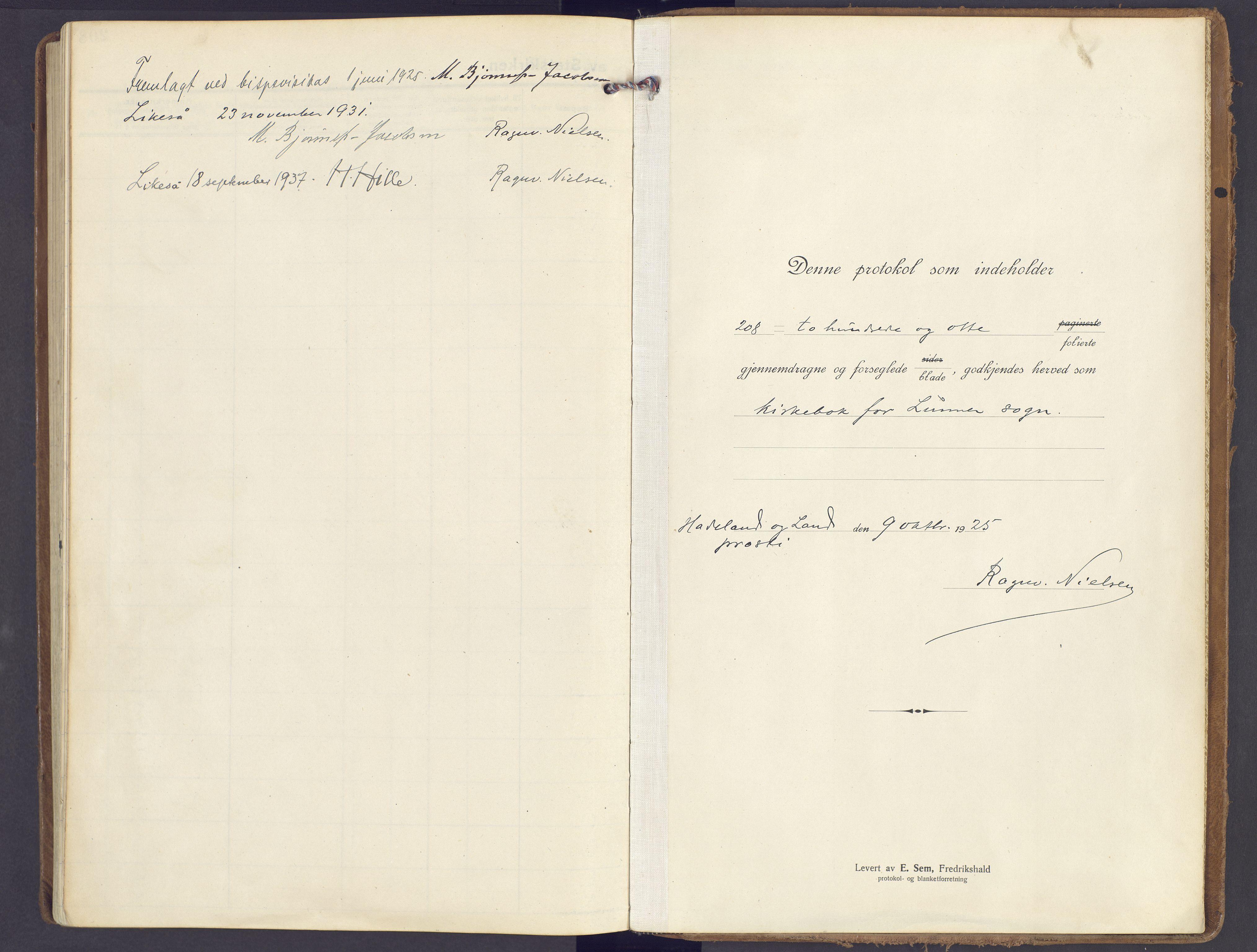SAH, Lunner prestekontor, H/Ha/Haa/L0002: Ministerialbok nr. 2, 1922-1931
