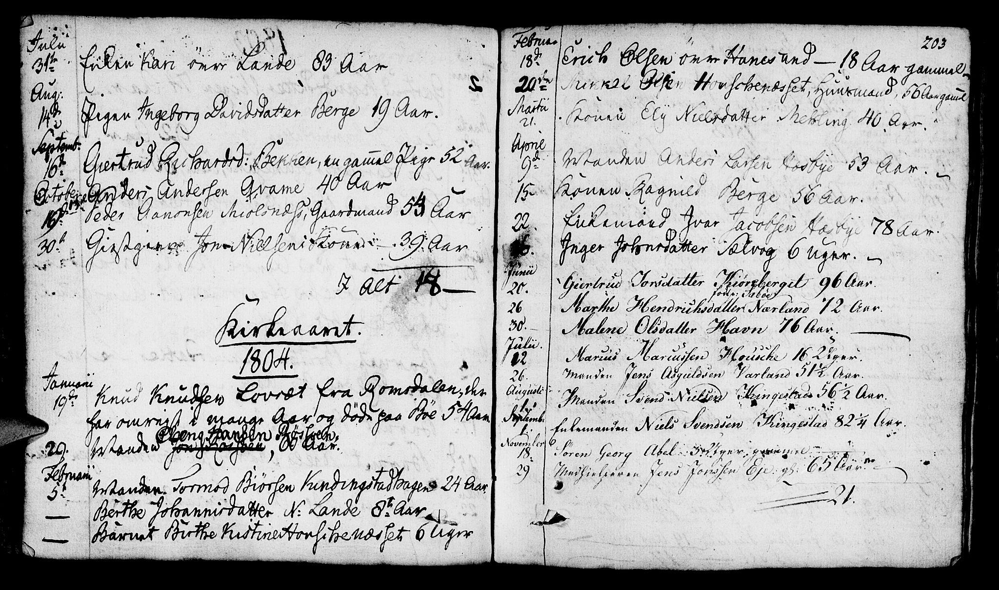 SAST, Finnøy sokneprestkontor, H/Ha/Haa/L0005: Ministerialbok nr. A 5, 1773-1816, s. 203