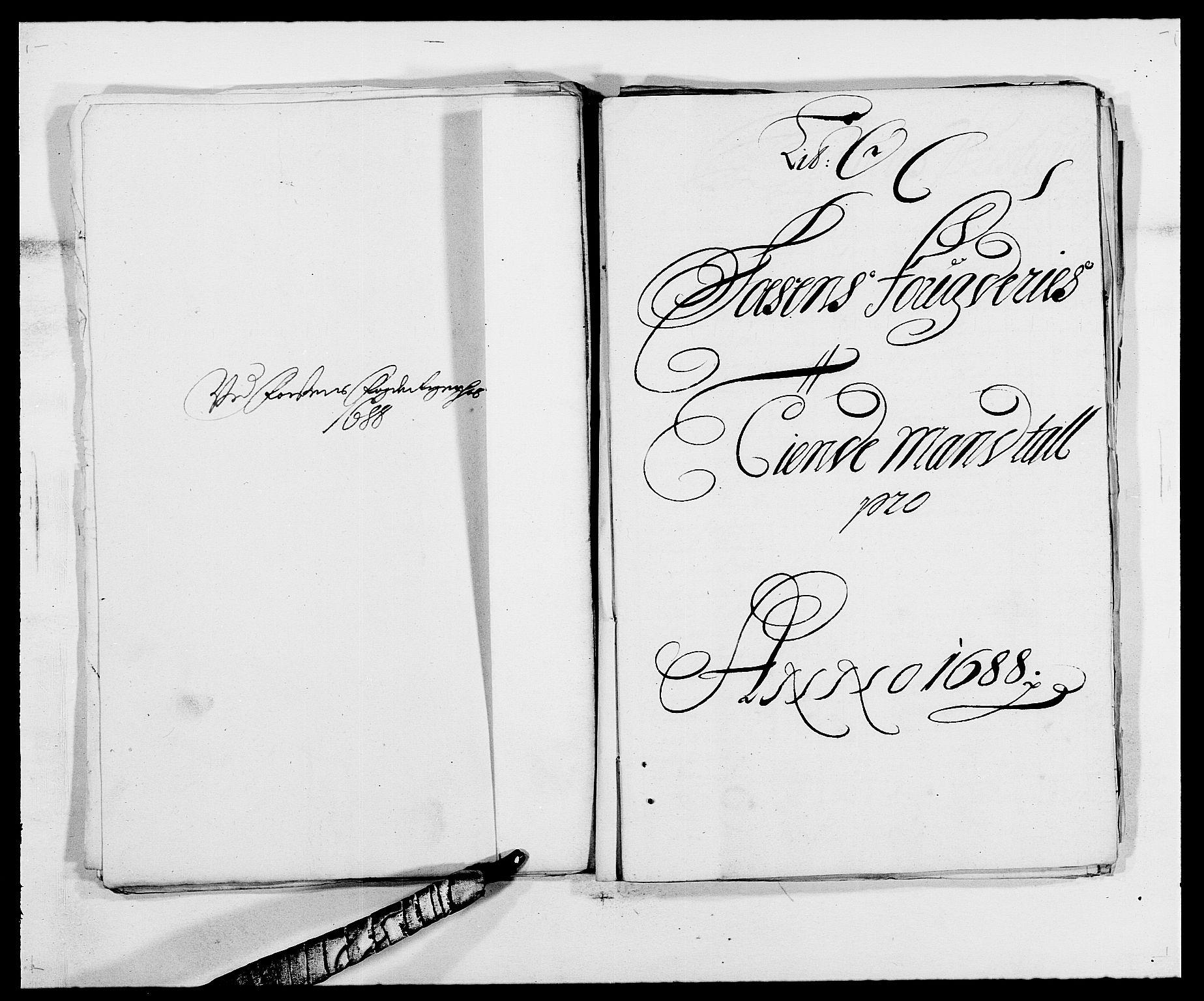 RA, Rentekammeret inntil 1814, Reviderte regnskaper, Fogderegnskap, R57/L3846: Fogderegnskap Fosen, 1688, s. 160
