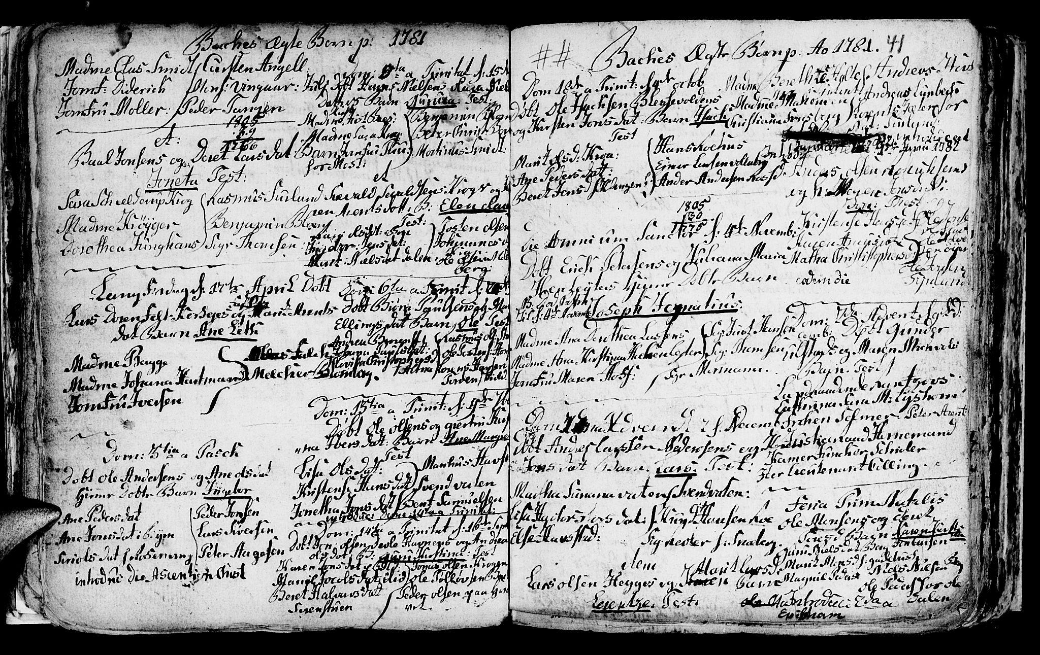 SAT, Ministerialprotokoller, klokkerbøker og fødselsregistre - Sør-Trøndelag, 604/L0218: Klokkerbok nr. 604C01, 1754-1819, s. 41