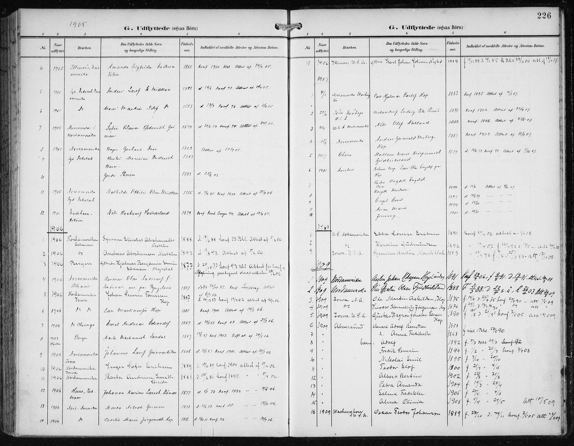 SAB, Fana Sokneprestembete, H/Haa/Haai/L0003: Ministerialbok nr. I 3, 1900-1912, s. 226