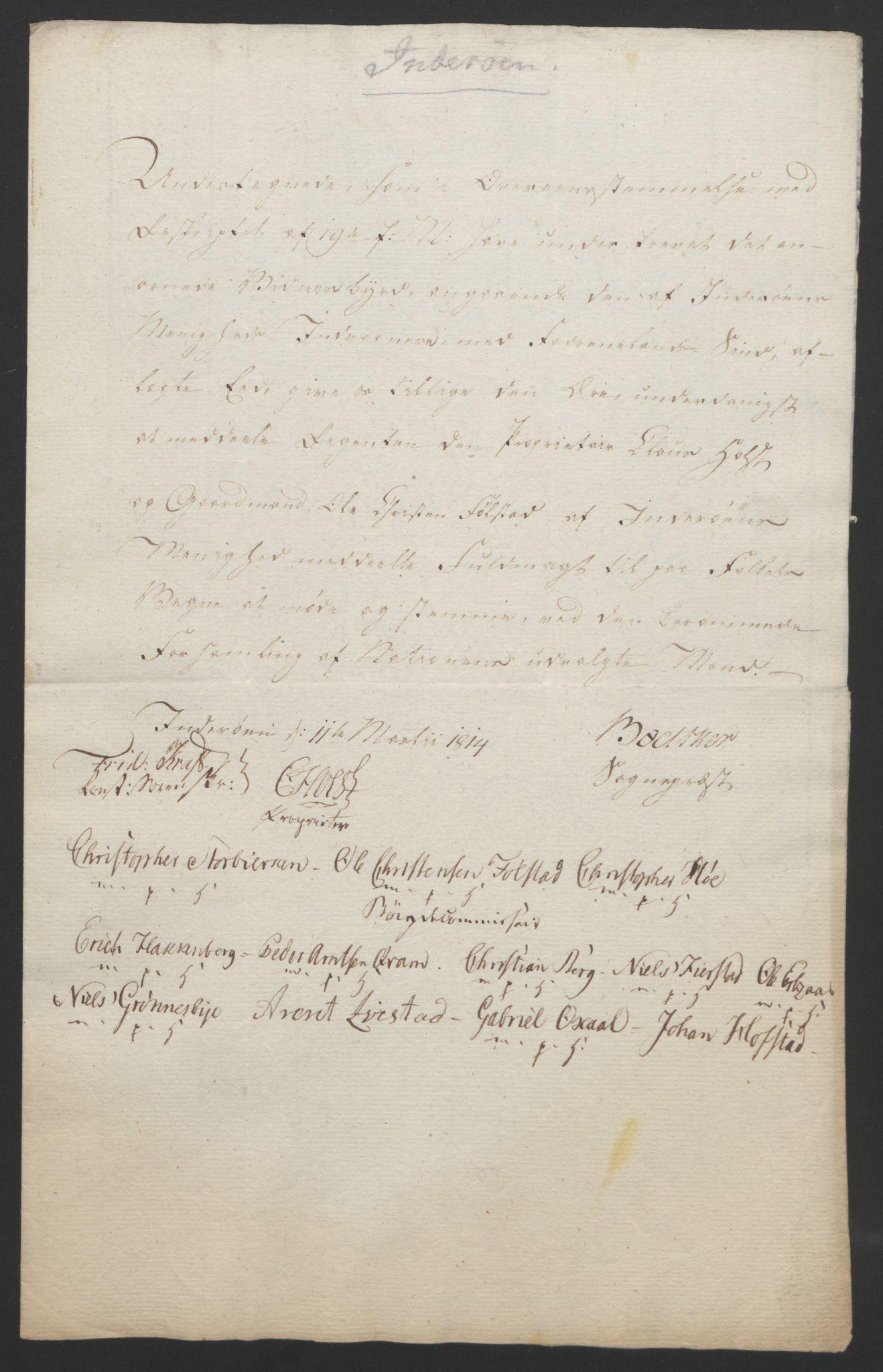 RA, Statsrådssekretariatet, D/Db/L0008: Fullmakter for Eidsvollsrepresentantene i 1814. , 1814, s. 470