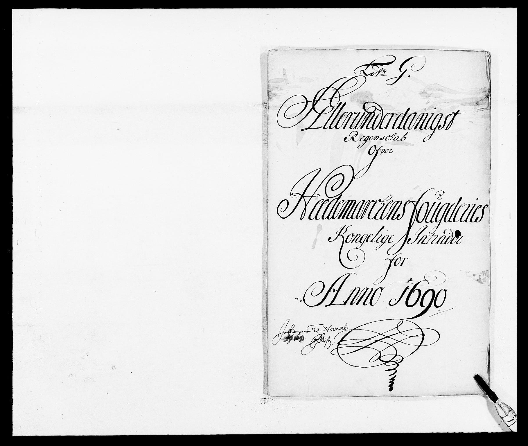 RA, Rentekammeret inntil 1814, Reviderte regnskaper, Fogderegnskap, R16/L1030: Fogderegnskap Hedmark, 1689-1691, s. 190