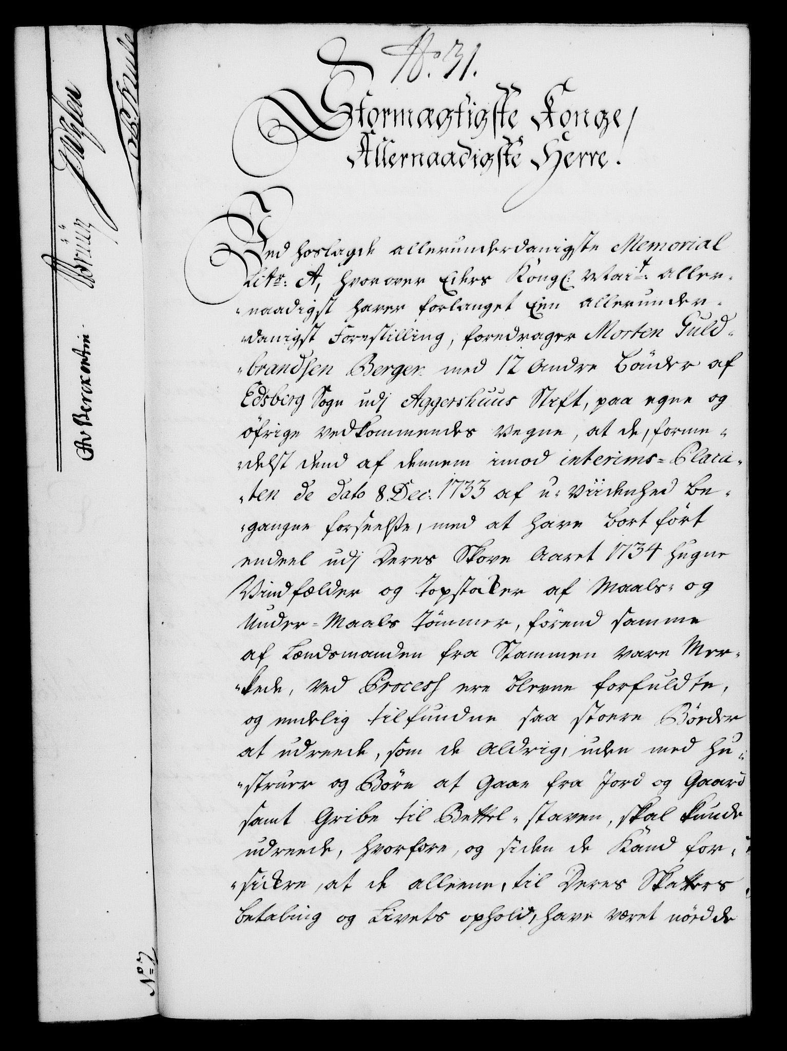 RA, Rentekammeret, Kammerkanselliet, G/Gf/Gfa/L0024: Norsk relasjons- og resolusjonsprotokoll (merket RK 52.24), 1741, s. 186