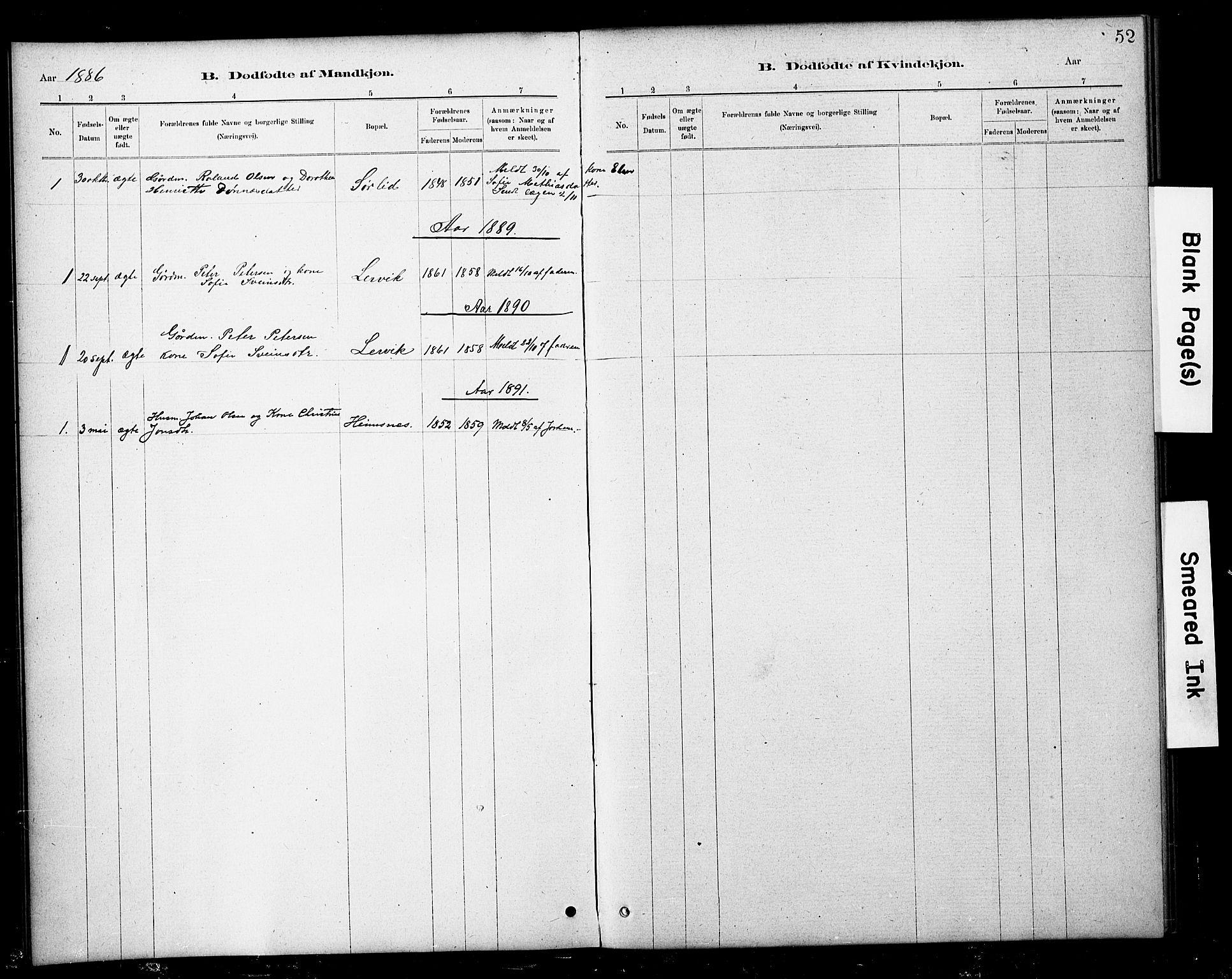 SAT, Ministerialprotokoller, klokkerbøker og fødselsregistre - Nord-Trøndelag, 783/L0661: Klokkerbok nr. 783C01, 1878-1893, s. 52