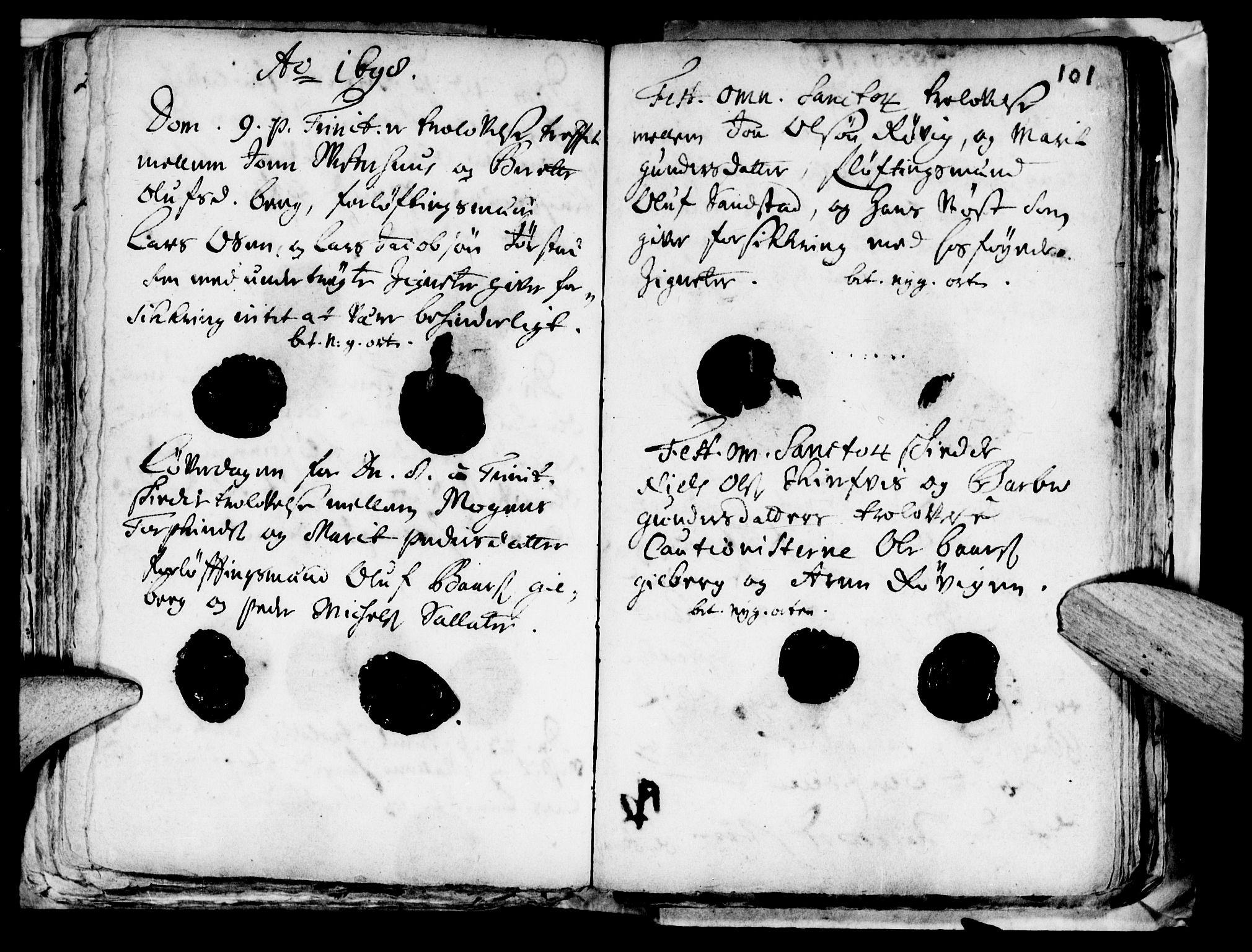 SAT, Ministerialprotokoller, klokkerbøker og fødselsregistre - Nord-Trøndelag, 722/L0214: Ministerialbok nr. 722A01, 1692-1718, s. 101
