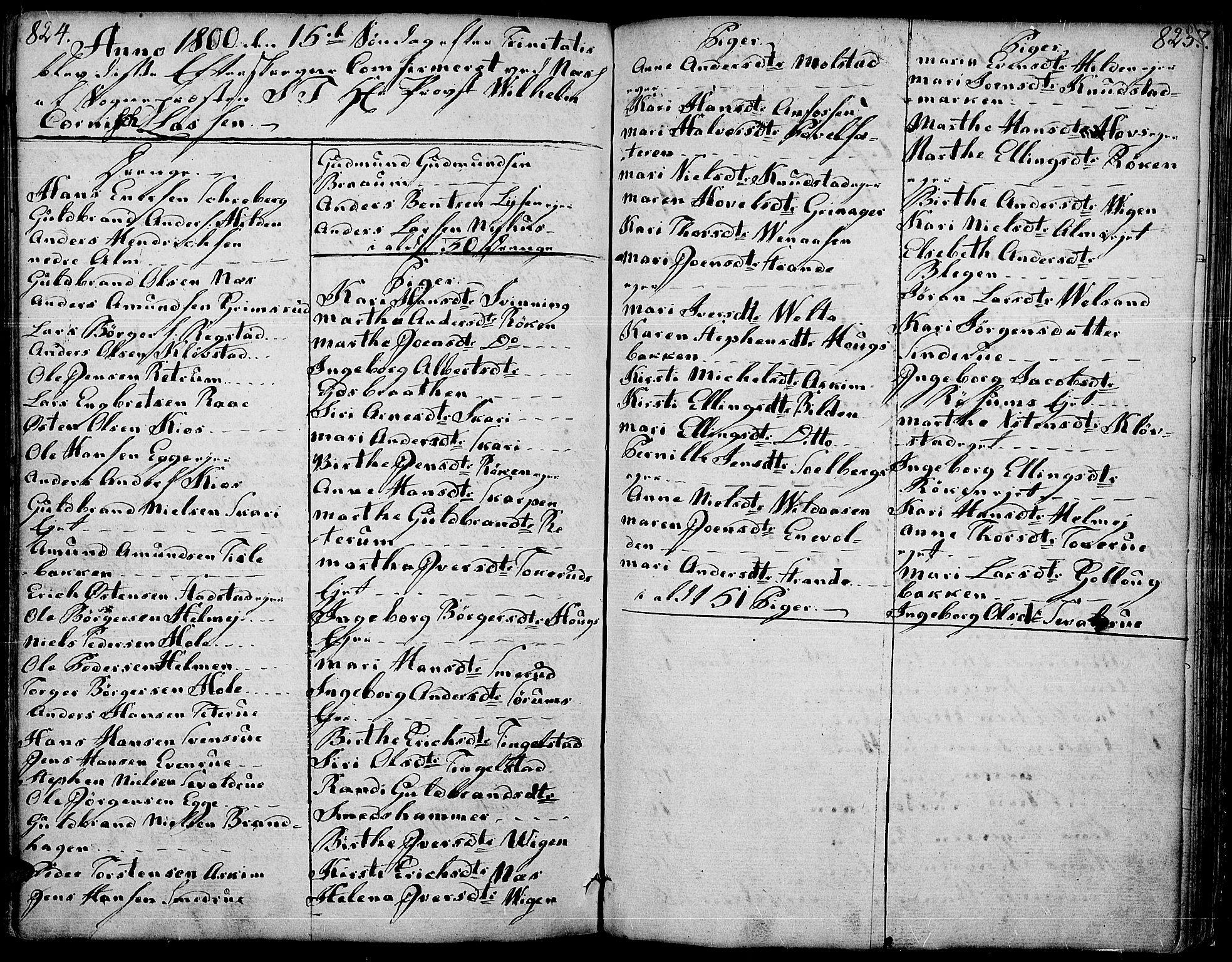 SAH, Gran prestekontor, Ministerialbok nr. 6, 1787-1824, s. 824-825