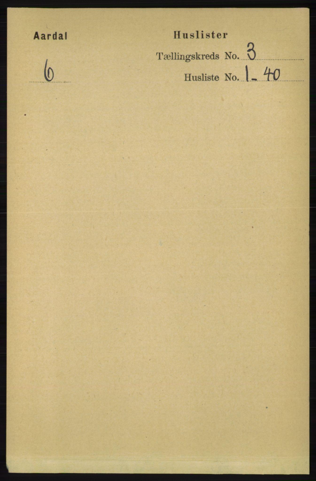 RA, Folketelling 1891 for 1131 Årdal herred, 1891, s. 781