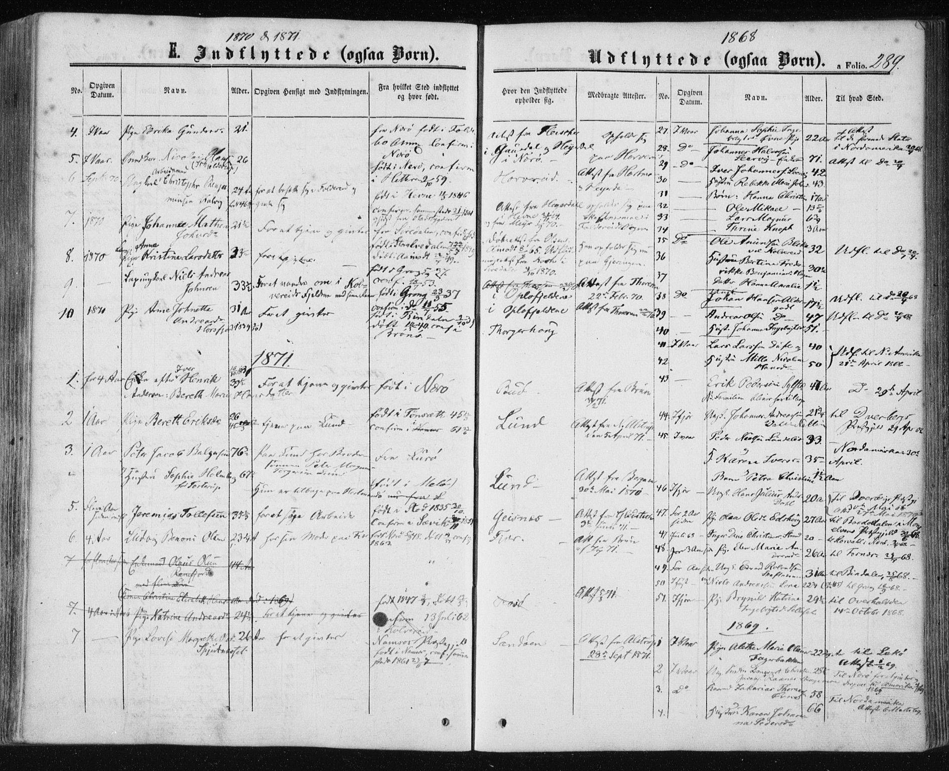 SAT, Ministerialprotokoller, klokkerbøker og fødselsregistre - Nord-Trøndelag, 780/L0641: Ministerialbok nr. 780A06, 1857-1874, s. 289