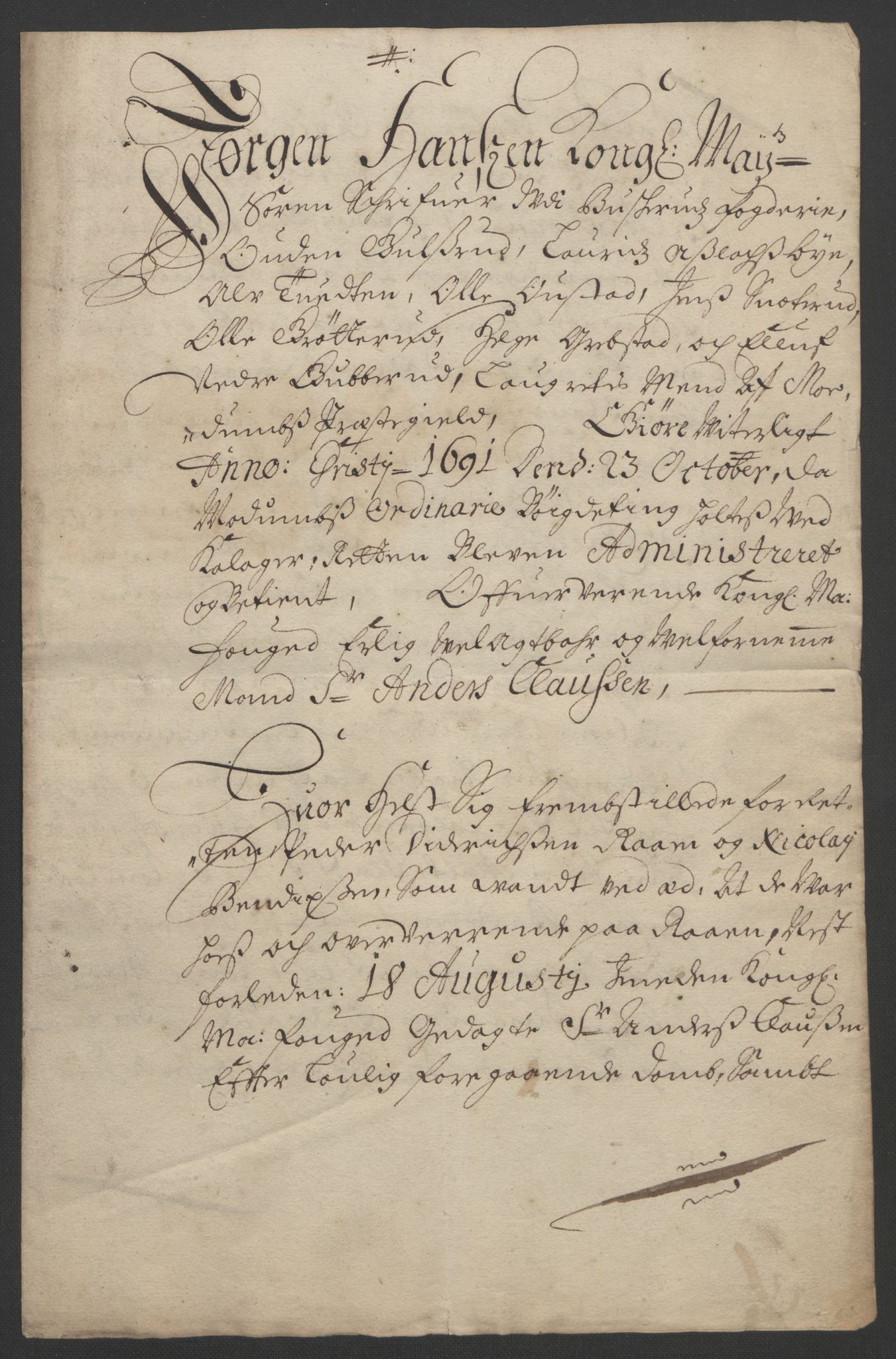 RA, Rentekammeret inntil 1814, Reviderte regnskaper, Fogderegnskap, R25/L1681: Fogderegnskap Buskerud, 1691-1692, s. 302
