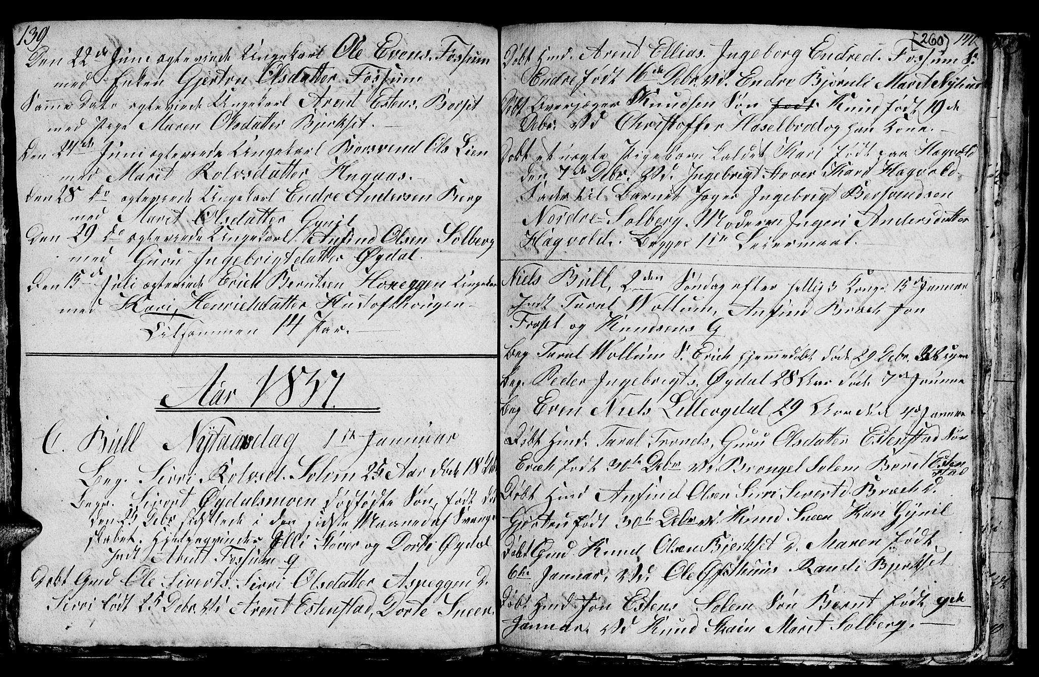 SAT, Ministerialprotokoller, klokkerbøker og fødselsregistre - Sør-Trøndelag, 689/L1042: Klokkerbok nr. 689C01, 1812-1841, s. 259-260