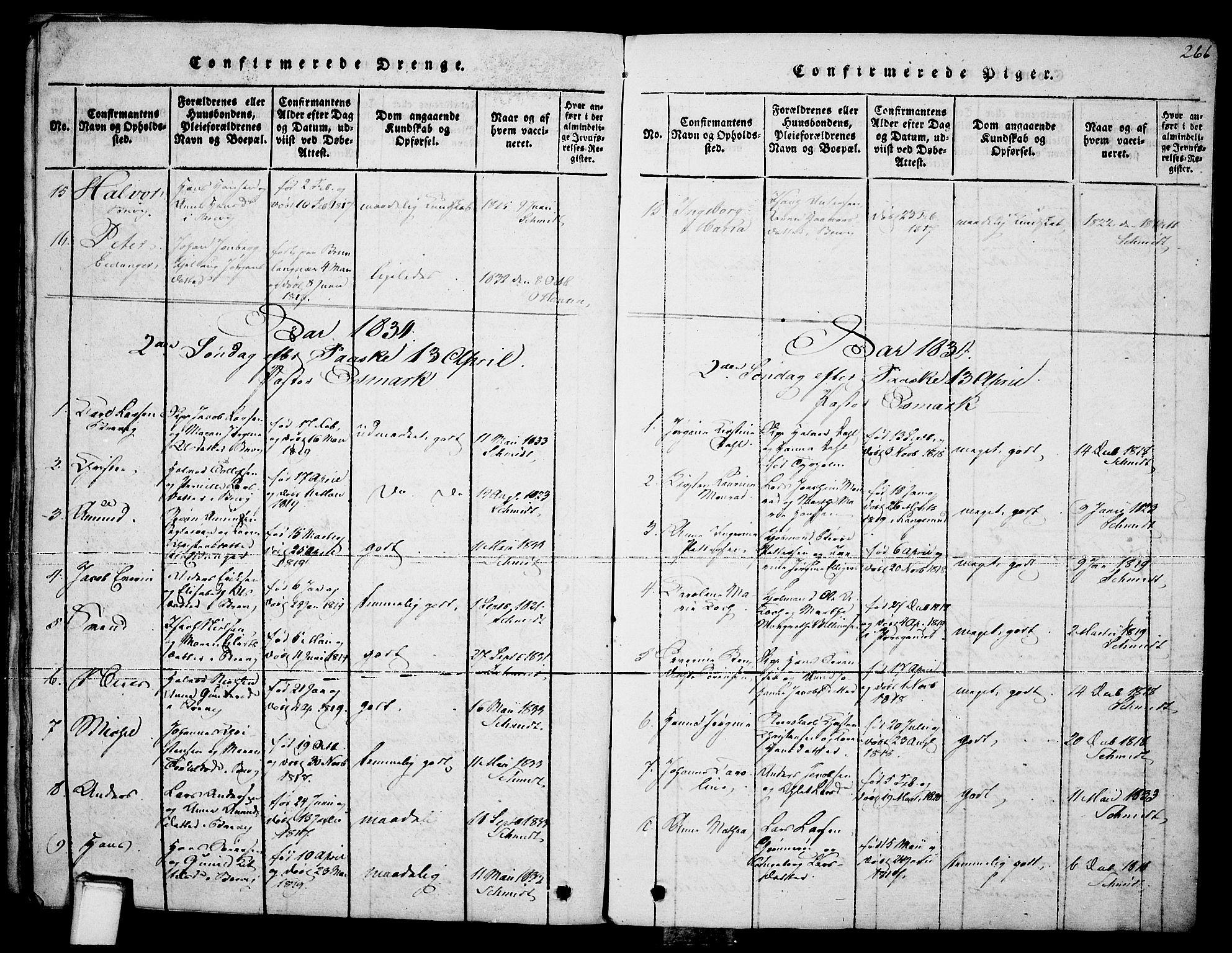 SAKO, Brevik kirkebøker, F/Fa/L0004: Ministerialbok nr. 4, 1814-1846, s. 266