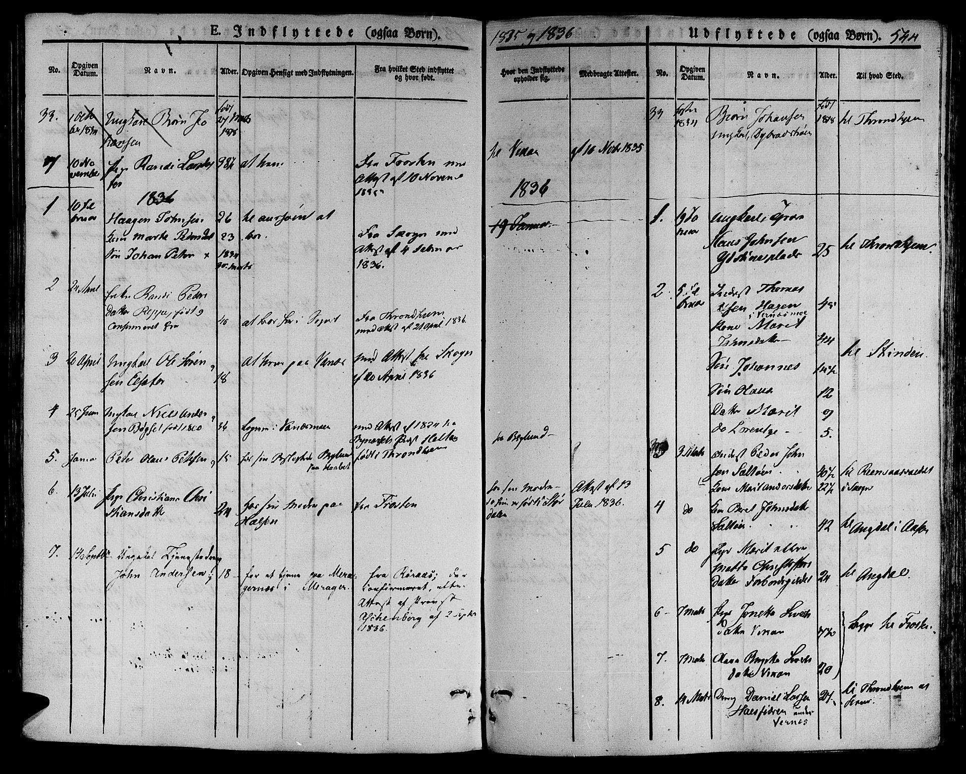 SAT, Ministerialprotokoller, klokkerbøker og fødselsregistre - Nord-Trøndelag, 709/L0072: Ministerialbok nr. 709A12, 1833-1844, s. 544