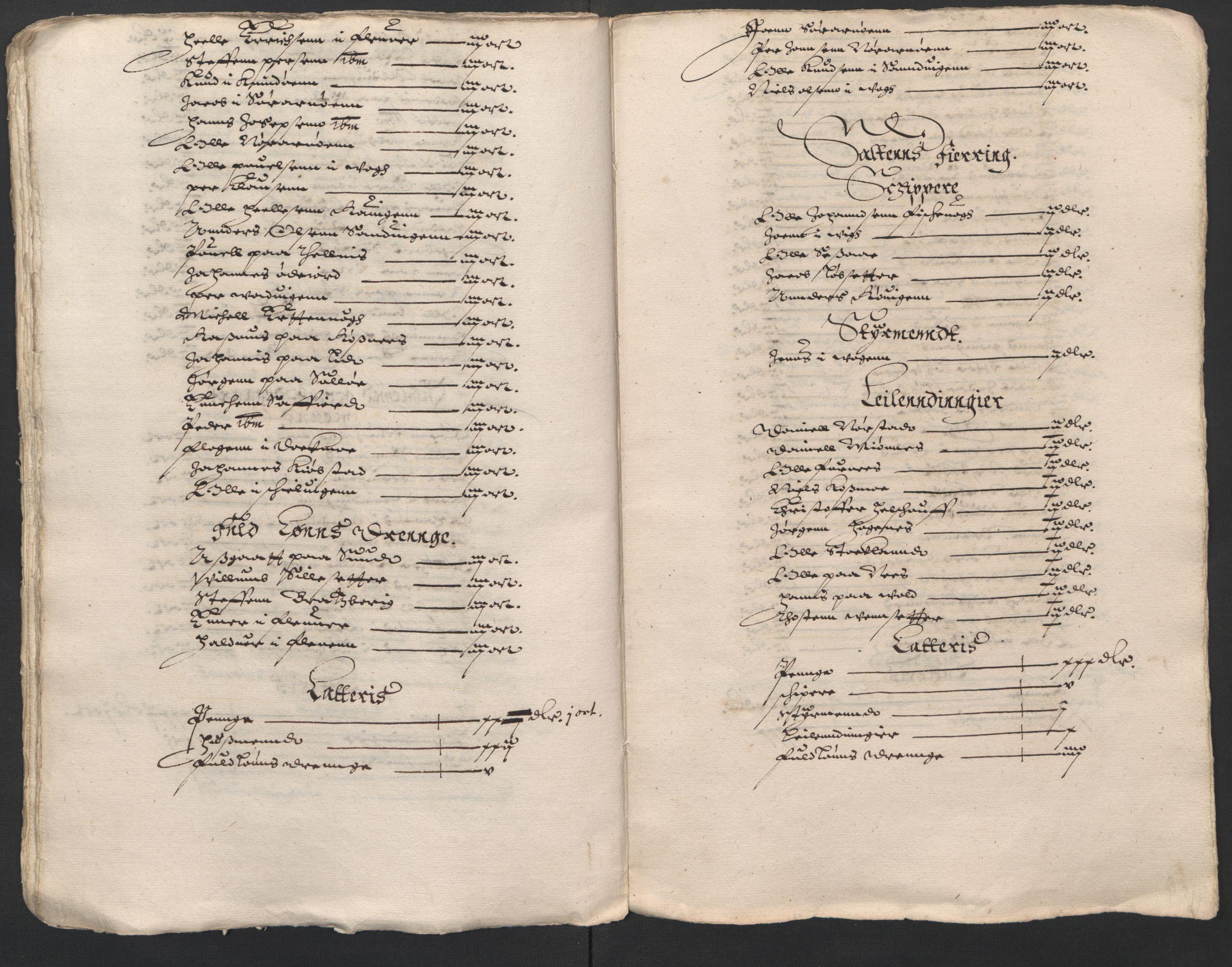 RA, Rentekammeret inntil 1814, Reviderte regnskaper, Lensregnskaper, R/Rb/Rbz/L0025: Nordlandenes len, 1631-1635
