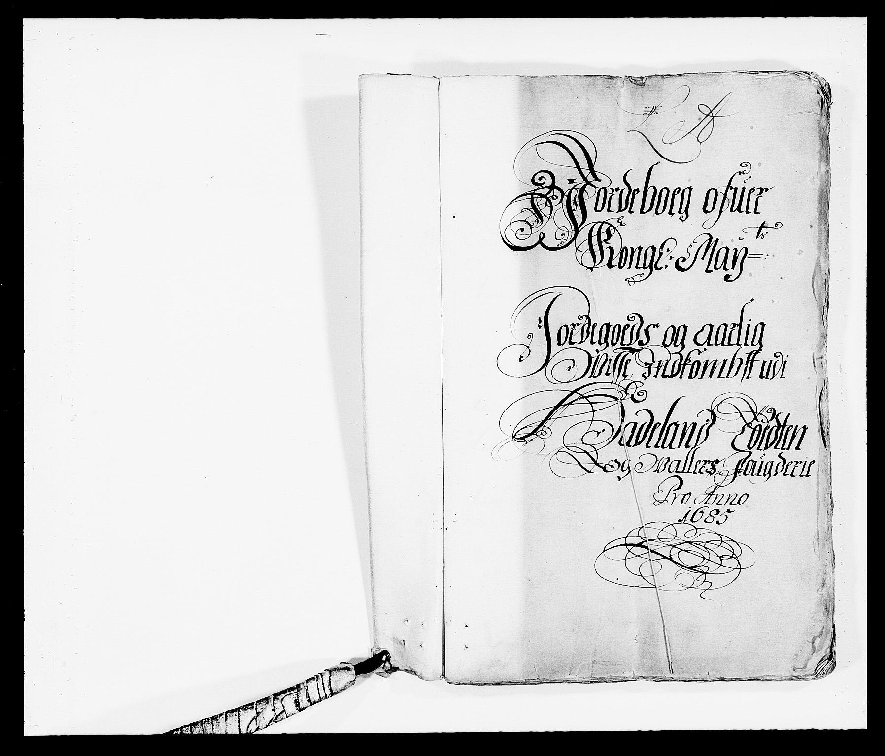 RA, Rentekammeret inntil 1814, Reviderte regnskaper, Fogderegnskap, R18/L1284: Fogderegnskap Hadeland, Toten og Valdres, 1685, s. 2