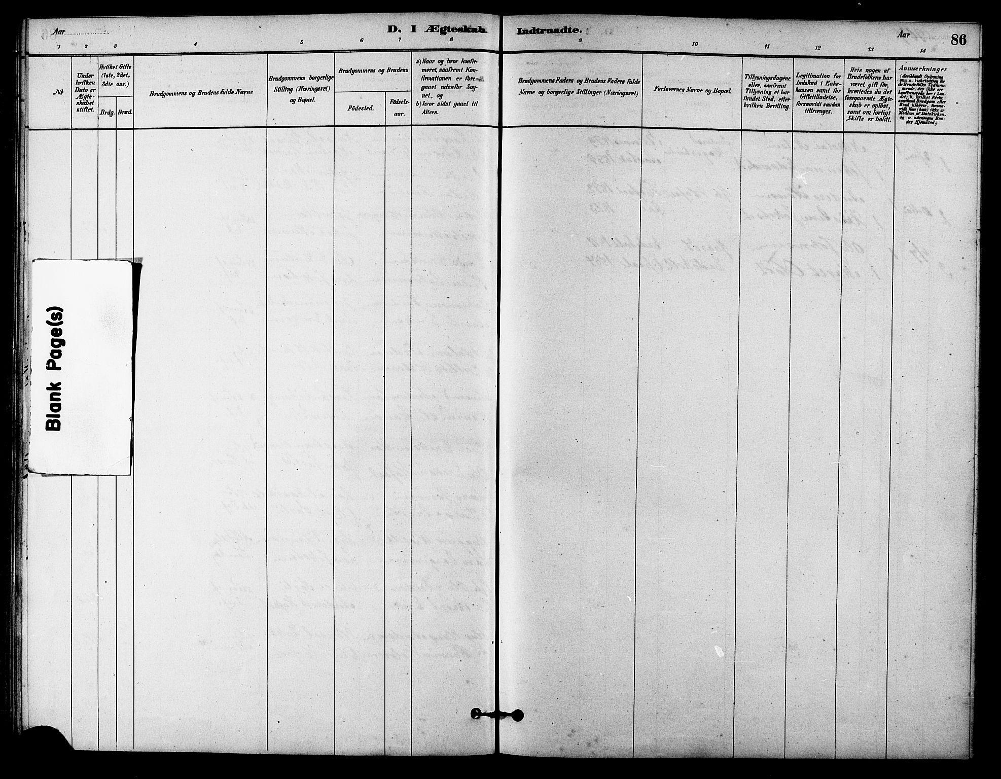 SAT, Ministerialprotokoller, klokkerbøker og fødselsregistre - Sør-Trøndelag, 631/L0514: Klokkerbok nr. 631C02, 1879-1912, s. 86