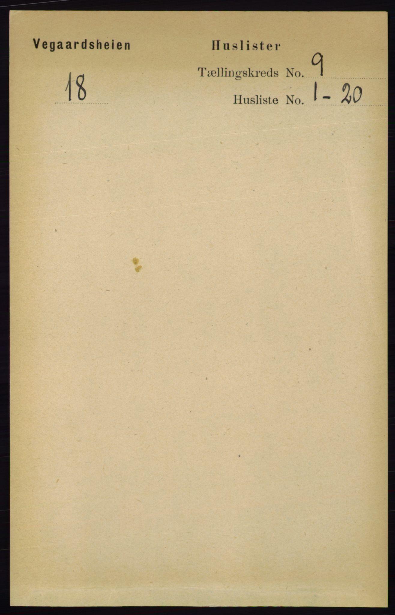 RA, Folketelling 1891 for 0912 Vegårshei herred, 1891, s. 1711