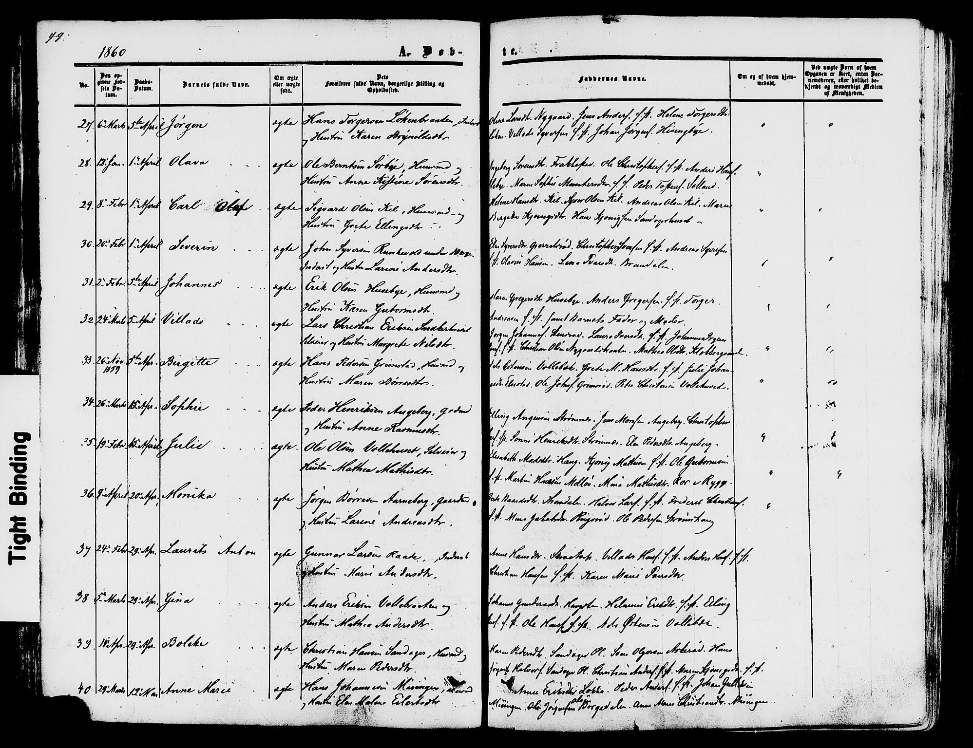 SAO, Råde prestekontor kirkebøker, F/Fa/L0006: Ministerialbok nr. 6, 1854-1877, s. 49