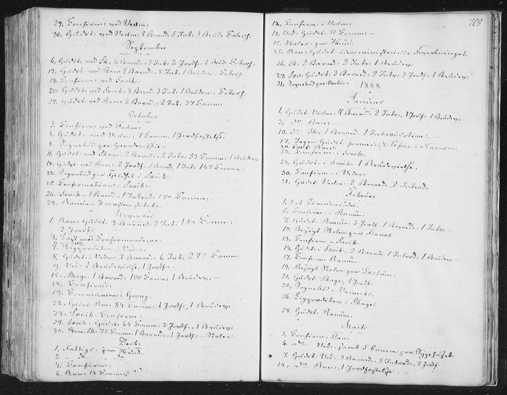 SAT, Ministerialprotokoller, klokkerbøker og fødselsregistre - Nord-Trøndelag, 764/L0552: Ministerialbok nr. 764A07b, 1824-1865, s. 705