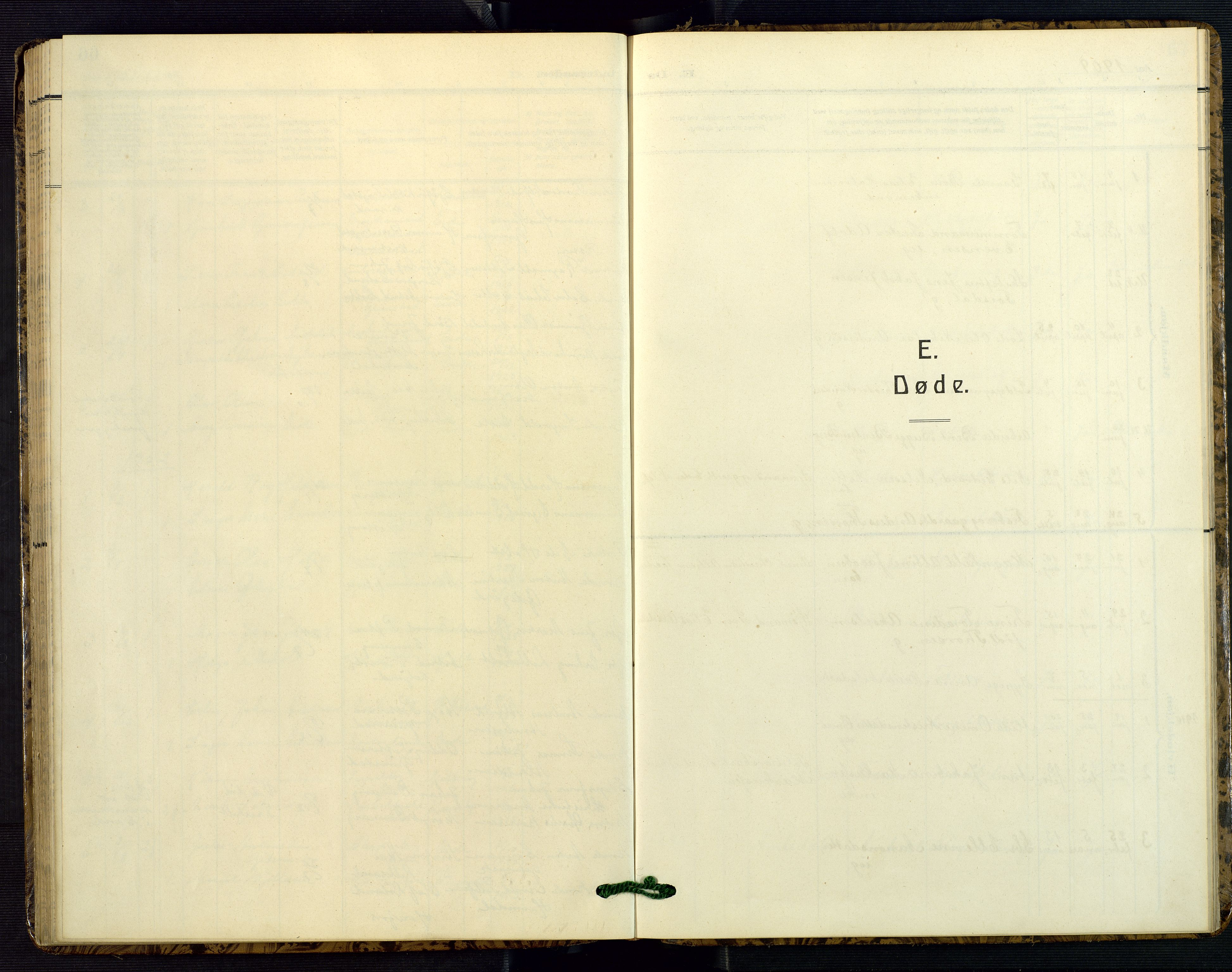 SAK, Hommedal sokneprestkontor, F/Fb/Fba/L0005: Klokkerbok nr. B 5, 1909-1957