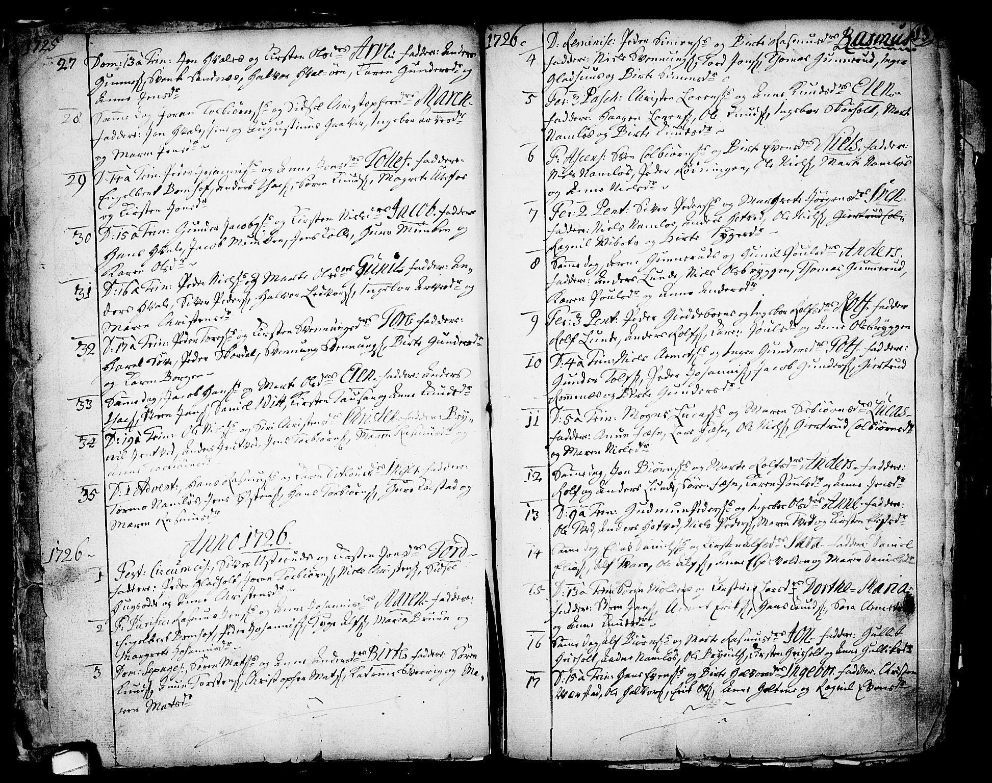 SAKO, Holla kirkebøker, F/Fa/L0001: Ministerialbok nr. 1, 1717-1779, s. 13