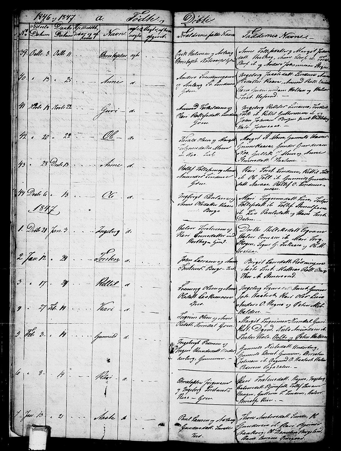 SAKO, Sauherad kirkebøker, G/Gb/L0001: Klokkerbok nr. II 1, 1845-1865, s. 5