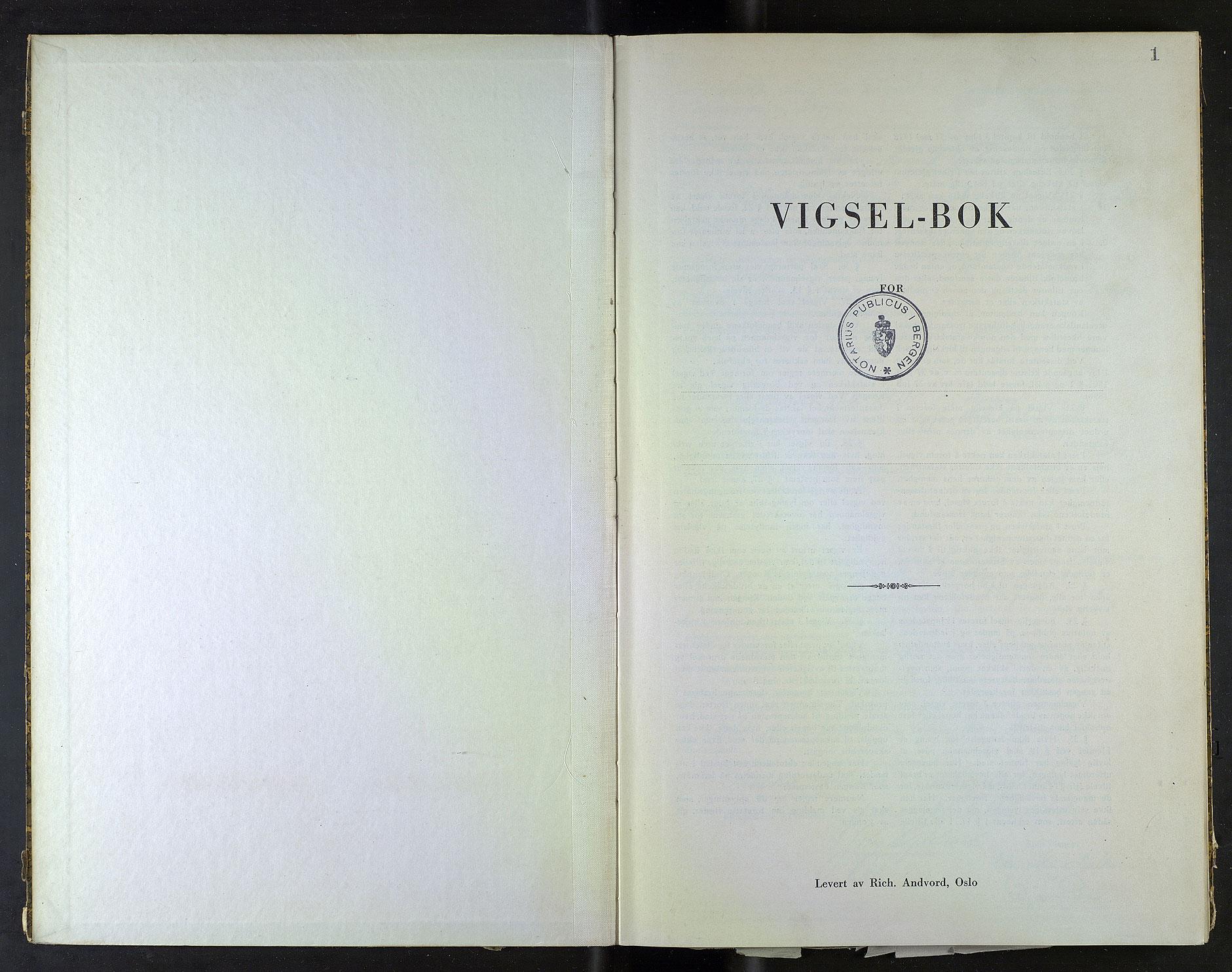 SAB, Bergen byfogd og byskriver*, 1944, s. 1