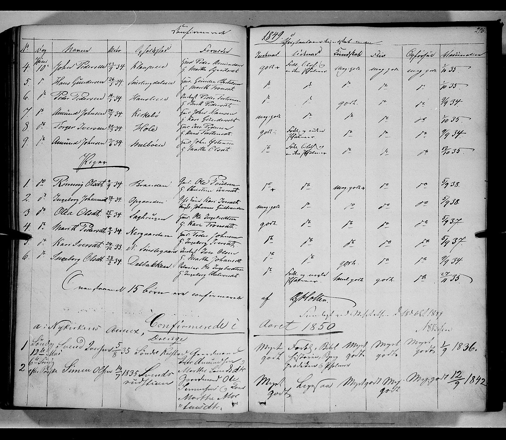 SAH, Gausdal prestekontor, Ministerialbok nr. 7, 1840-1850, s. 296