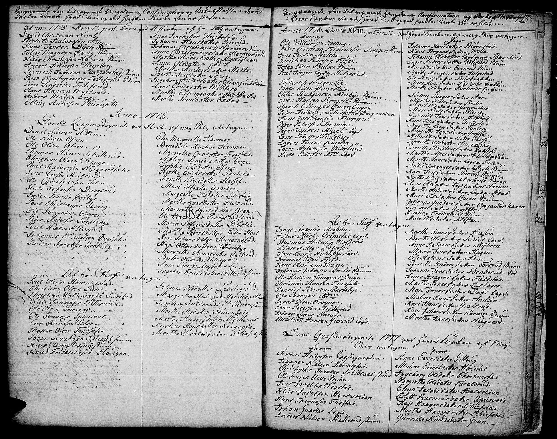 SAH, Toten prestekontor, Ministerialbok nr. 6, 1773-1793, s. 425