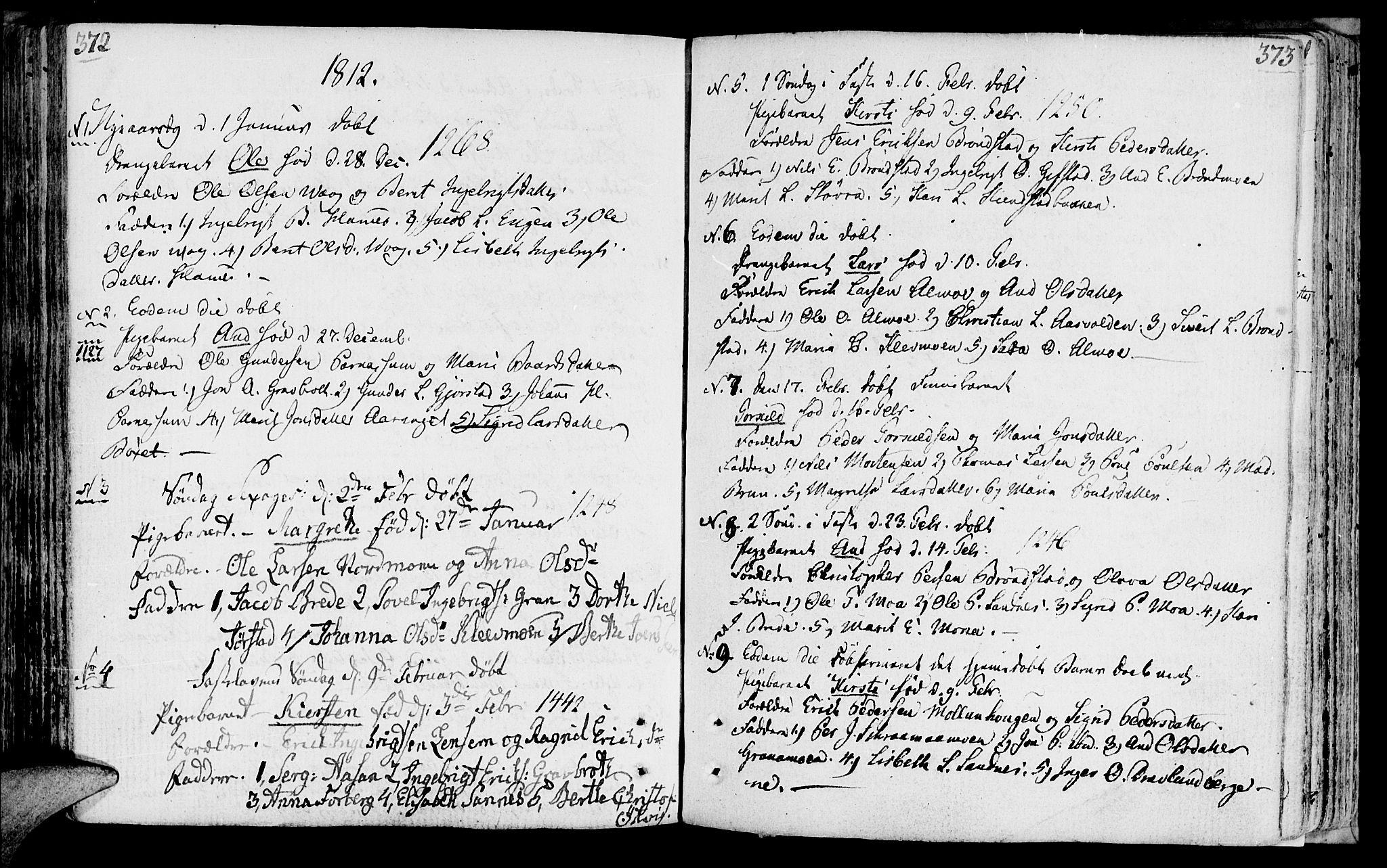 SAT, Ministerialprotokoller, klokkerbøker og fødselsregistre - Nord-Trøndelag, 749/L0468: Ministerialbok nr. 749A02, 1787-1817, s. 372-373