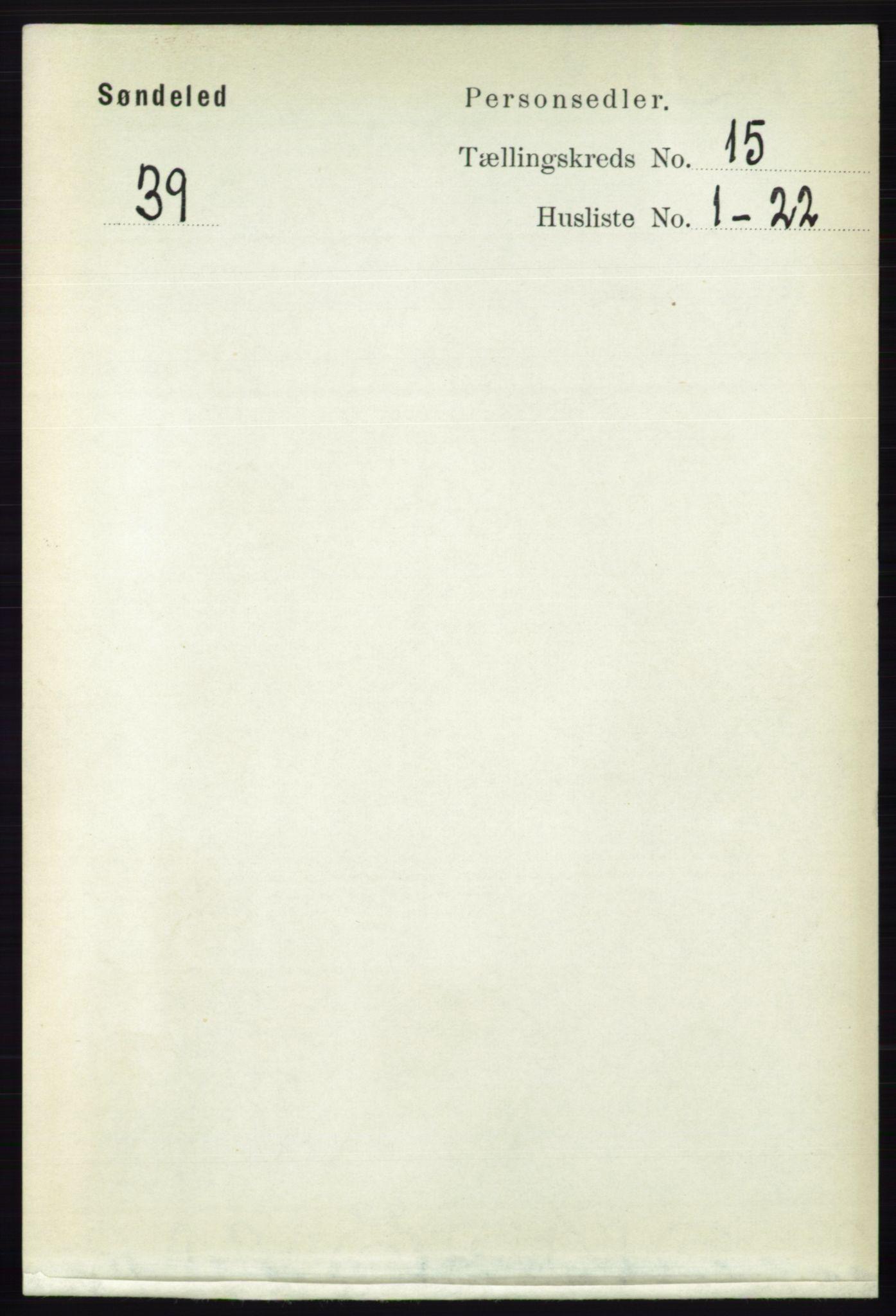 RA, Folketelling 1891 for 0913 Søndeled herred, 1891, s. 4327