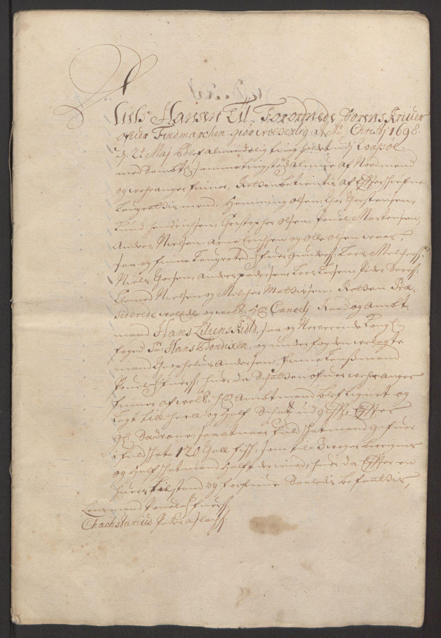 RA, Rentekammeret inntil 1814, Reviderte regnskaper, Fogderegnskap, R69/L4851: Fogderegnskap Finnmark/Vardøhus, 1691-1700, s. 356