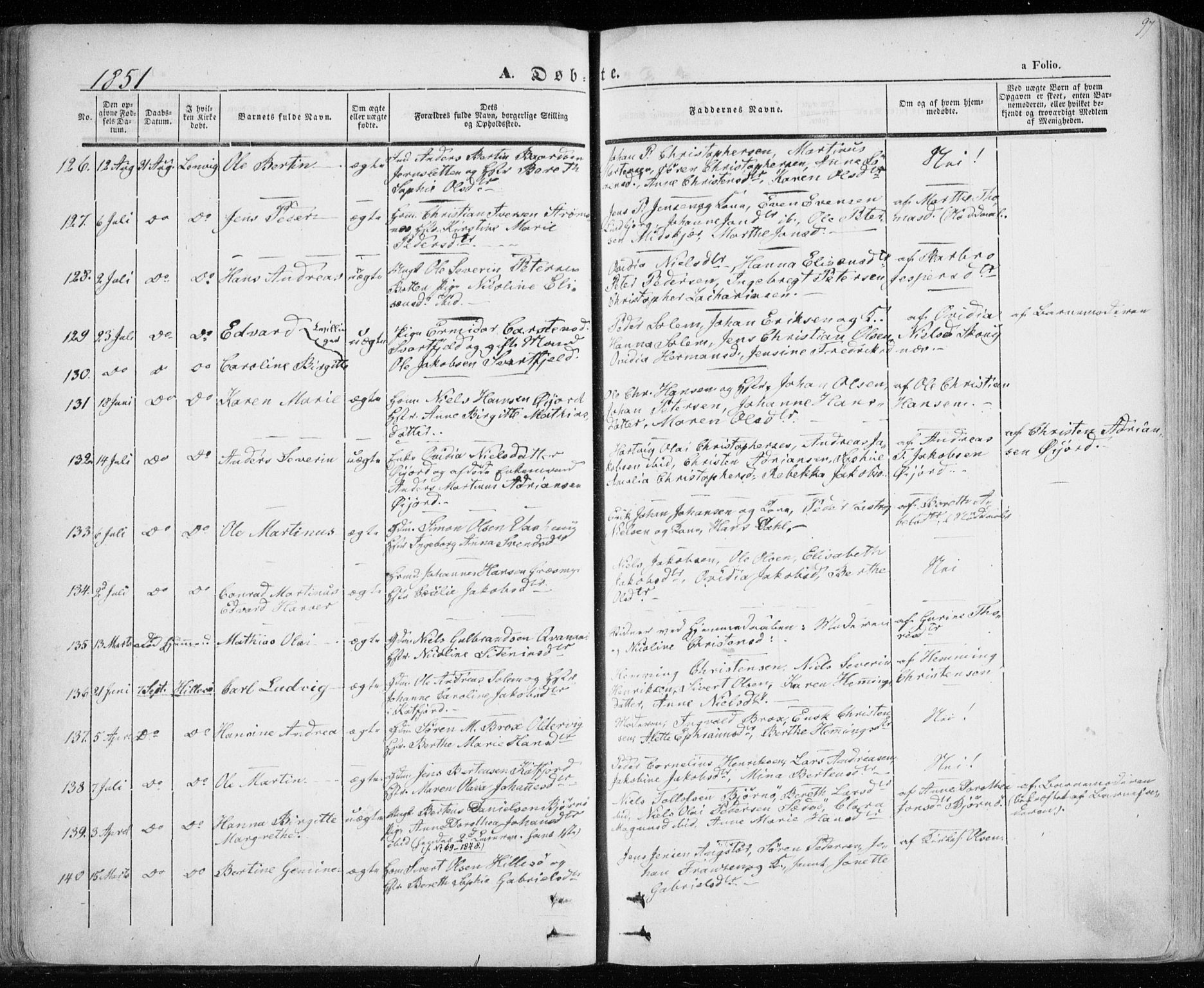 SATØ, Lenvik sokneprestembete, H/Ha/Haa/L0006kirke: Ministerialbok nr. 6, 1845-1854, s. 97